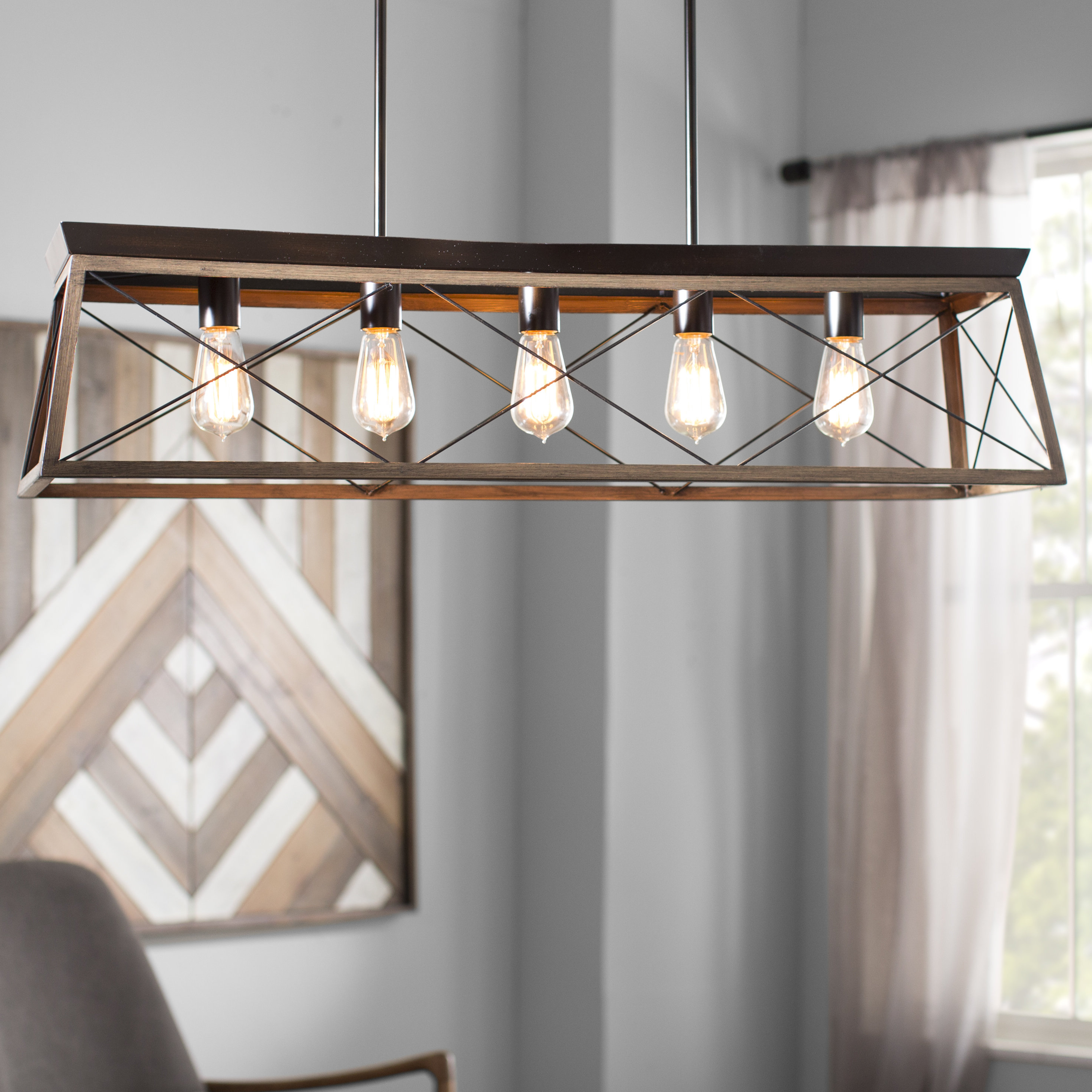 Laurel Foundry Modern Farmhouse Delon 5 Light Kitchen Island Regarding 2020 Hinerman 5 Light Kitchen Island Pendants (View 5 of 25)