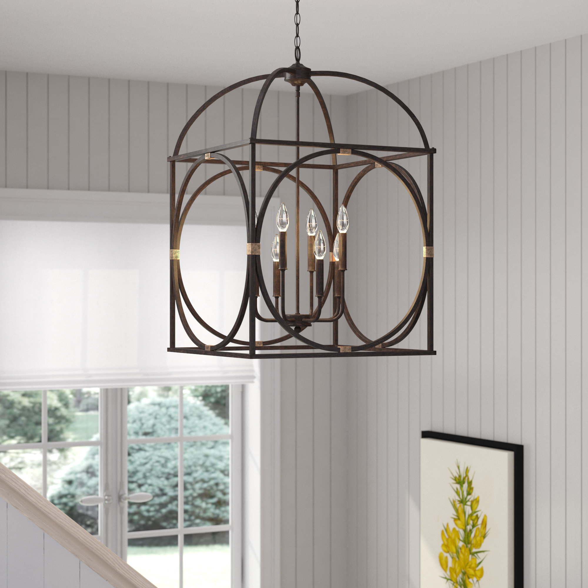 Laurel Foundry Modern Farmhouse Keene 8 Light Lantern Within Most Popular Taya 4 Light Lantern Square Pendants (View 20 of 25)