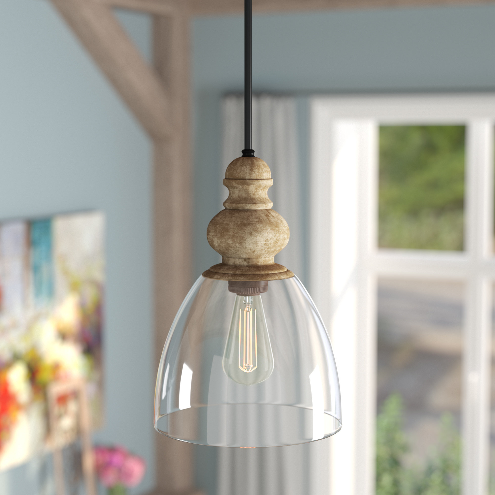 Laurel Foundry Modern Farmhouse Lemelle 1 Light Single Bell Within Famous Sargent 1 Light Single Bell Pendants (View 10 of 25)