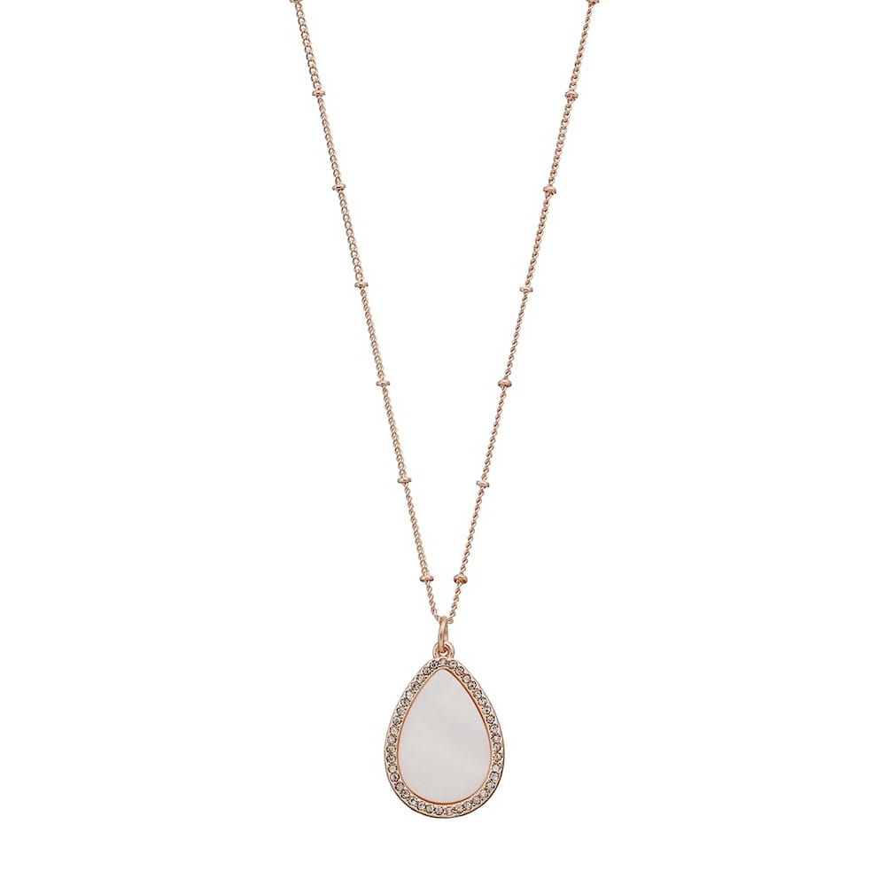 Lc Lauren Conrad Long Mother Of Pearl Teardrop Pendant In Most Recent Conard 1 Light Single Teardrop Pendants (View 23 of 25)