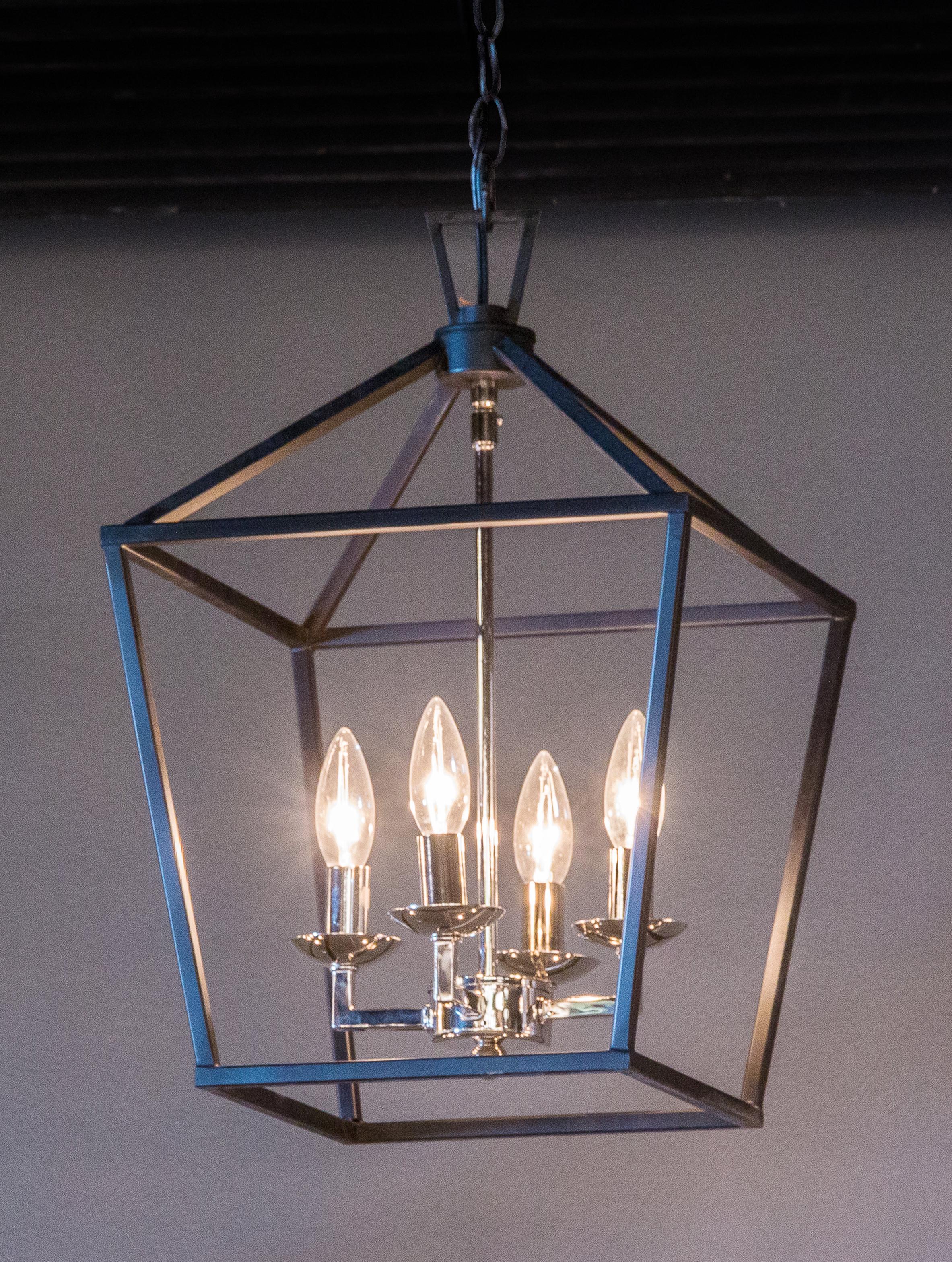 Leiters 3 Light Lantern Geometric Pendants In Most Current Carmen 4 Light Lantern Pendant (View 11 of 25)