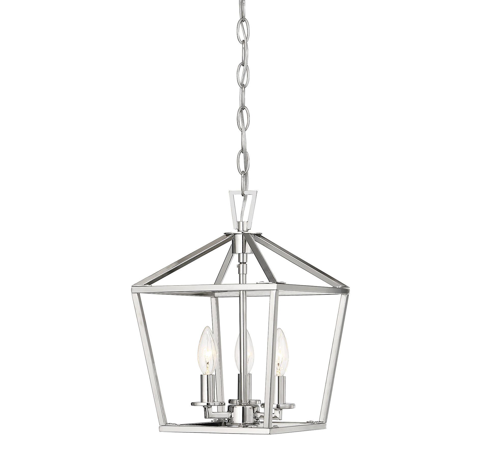"Leiters 3 Light Lantern Geometric Pendants Regarding Popular Geometric Mini (Less Than 10"" Wide) Pendant Lighting You'll (View 24 of 25)"