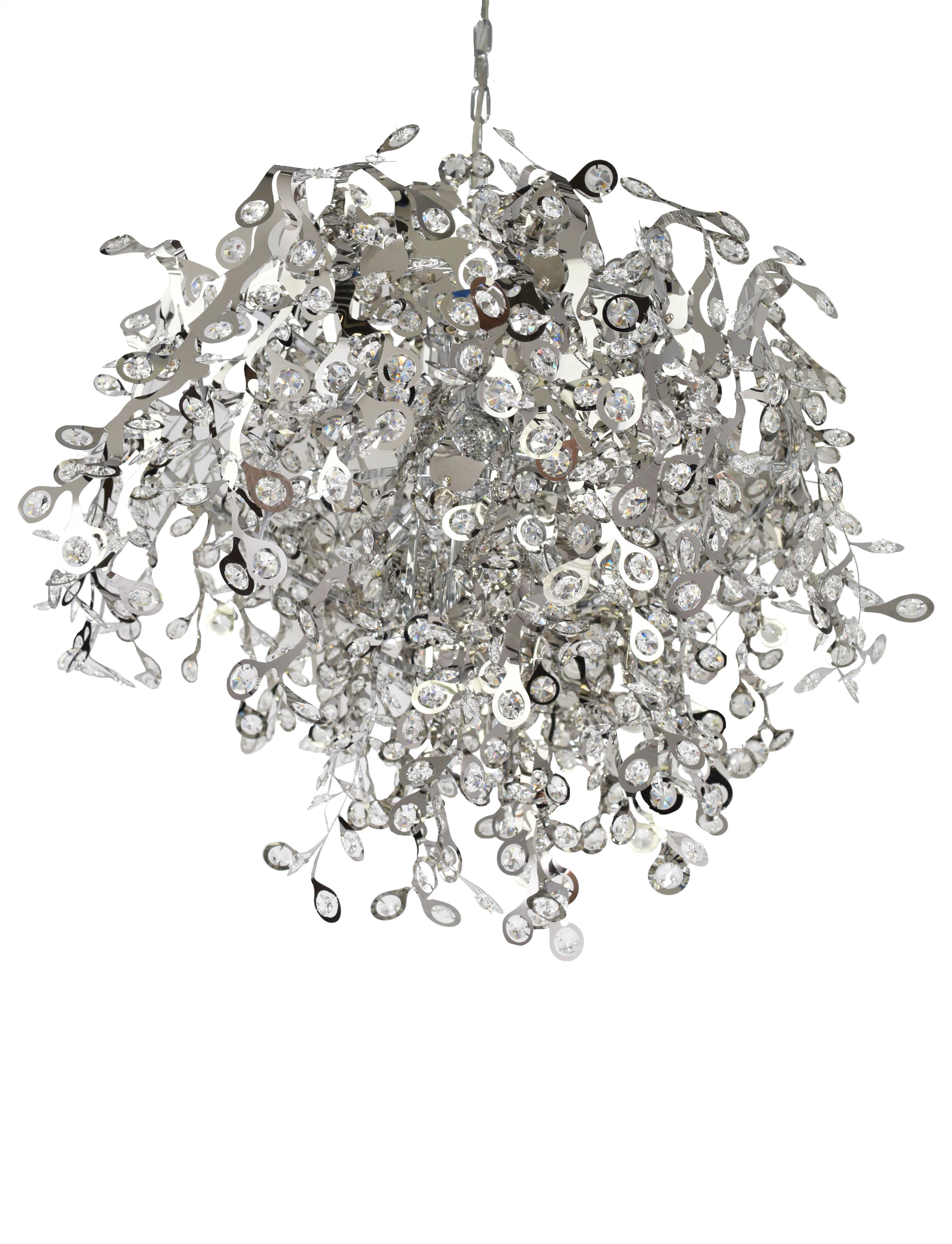 Leonia 10 Light Crystal Chandelier Intended For Most Current Clea 3 Light Crystal Chandeliers (View 14 of 25)