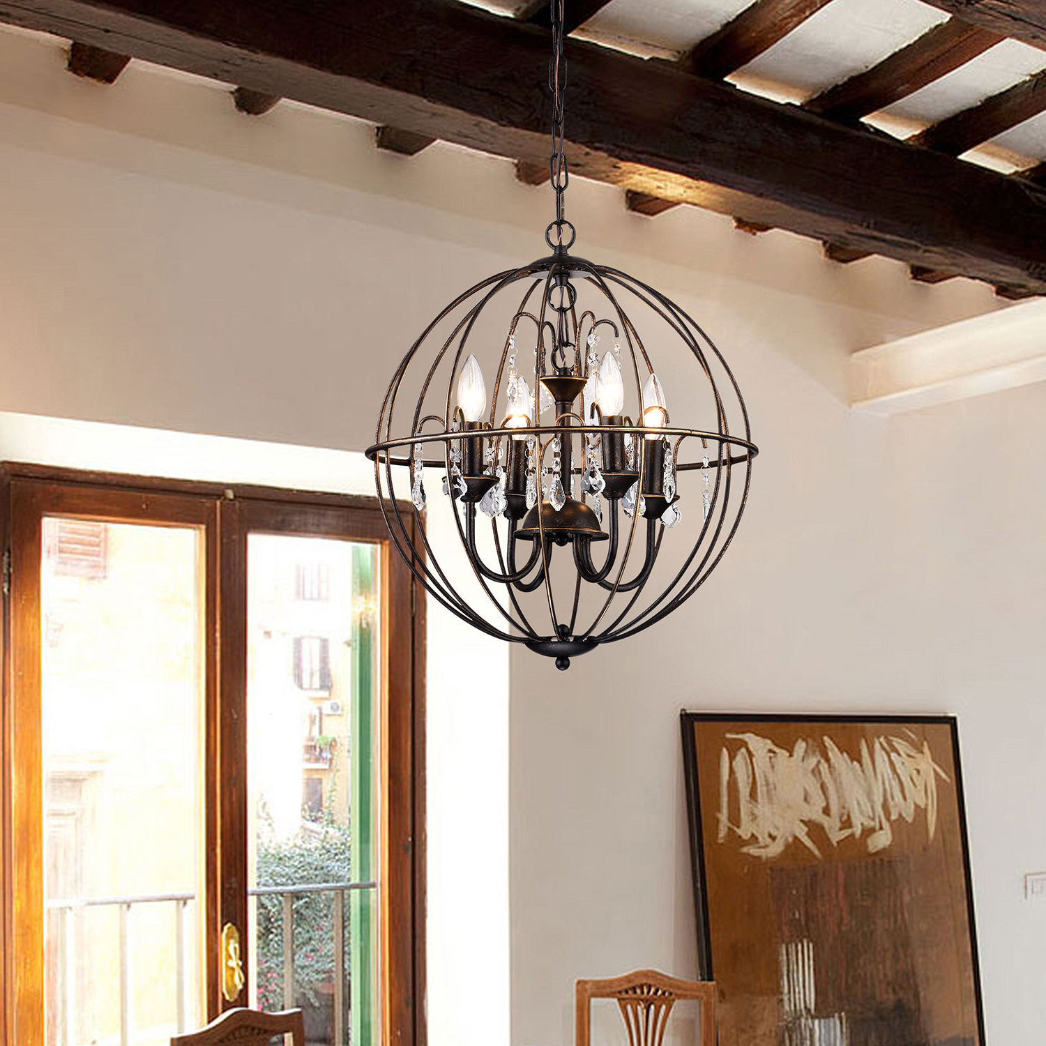 Leung 4 Light Chandelier Intended For Recent Kierra 4 Light Unique / Statement Chandeliers (View 16 of 25)