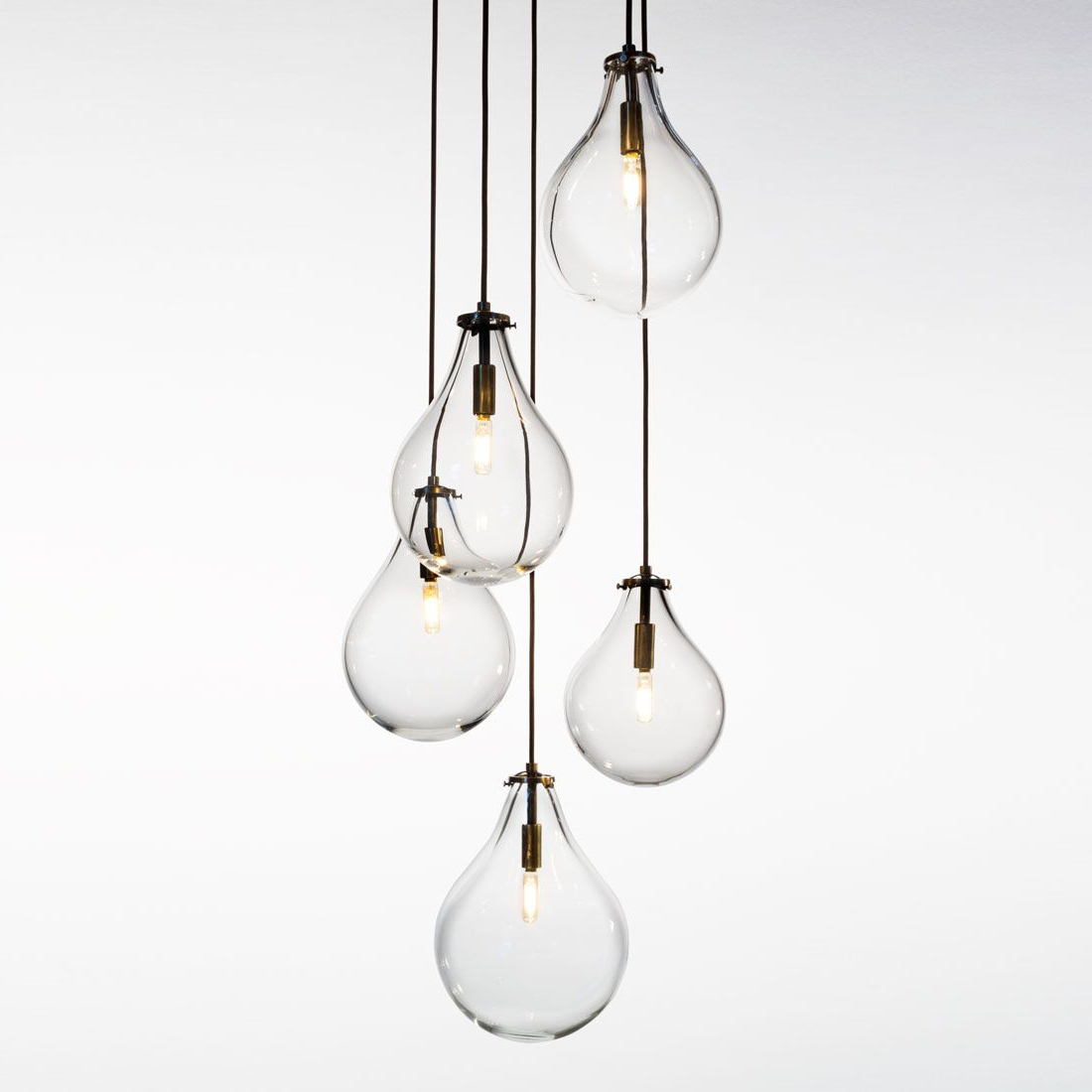 Lighting, Glass For Most Current Berenice 3 Light Cluster Teardrop Pendants (View 13 of 25)