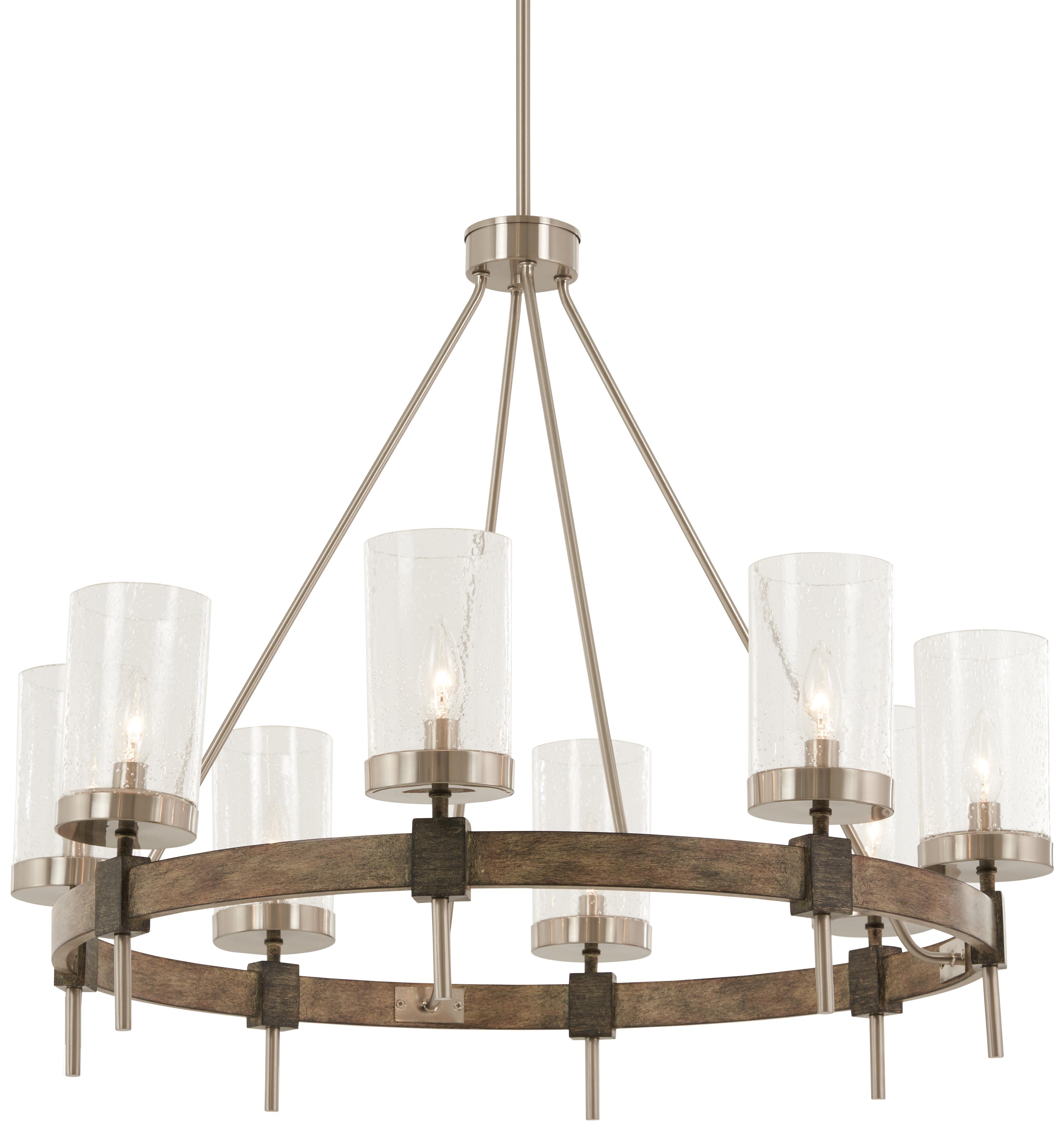 Liska 8 Light Candle Style Chandelier For Trendy Shaylee 8 Light Candle Style Chandeliers (View 14 of 25)