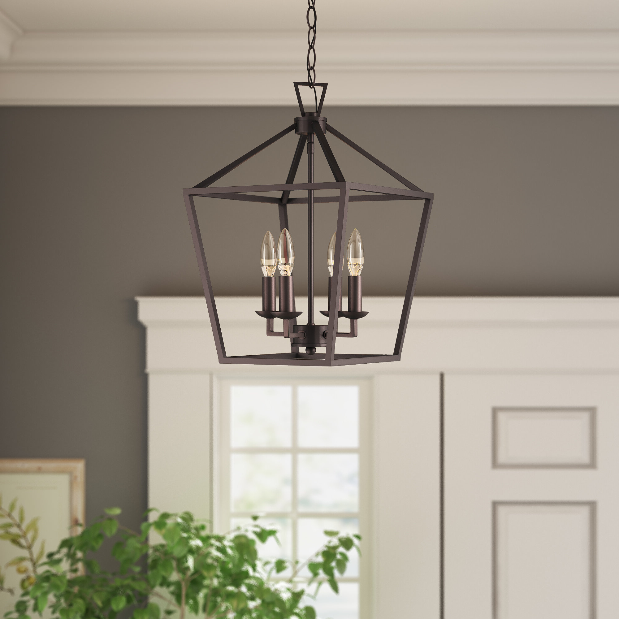 Louanne 1 Light Lantern Geometric Pendants Pertaining To Newest Carmen 4 Light Lantern Geometric Pendant (View 9 of 25)