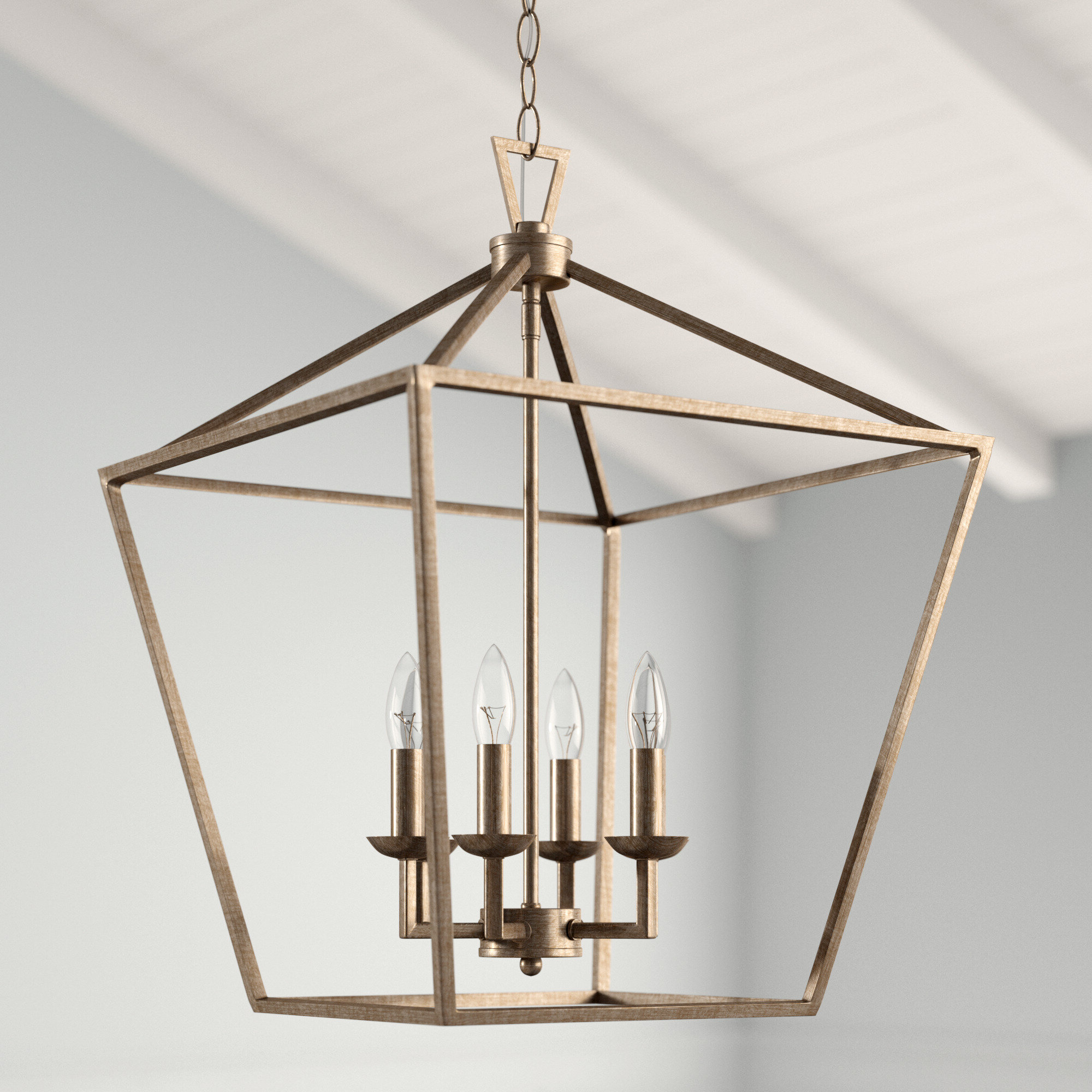 Louanne 3 Light Lantern Geometric Pendants Intended For Popular Carmen 6 Light Lantern Geometric Pendant (View 5 of 25)