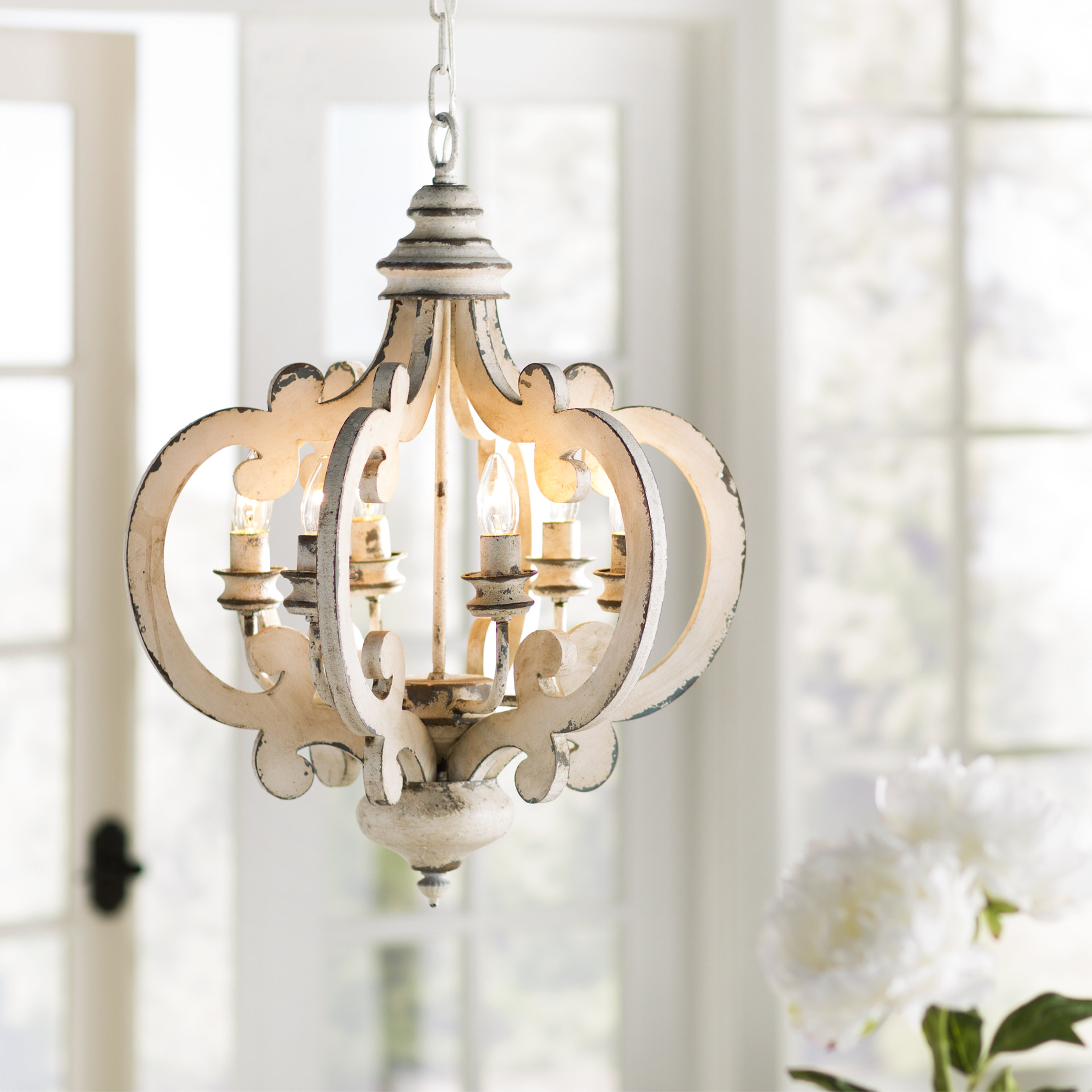 Lynn 6-Light Geometric Chandelier in Best and Newest Lynn 6-Light Geometric Chandeliers