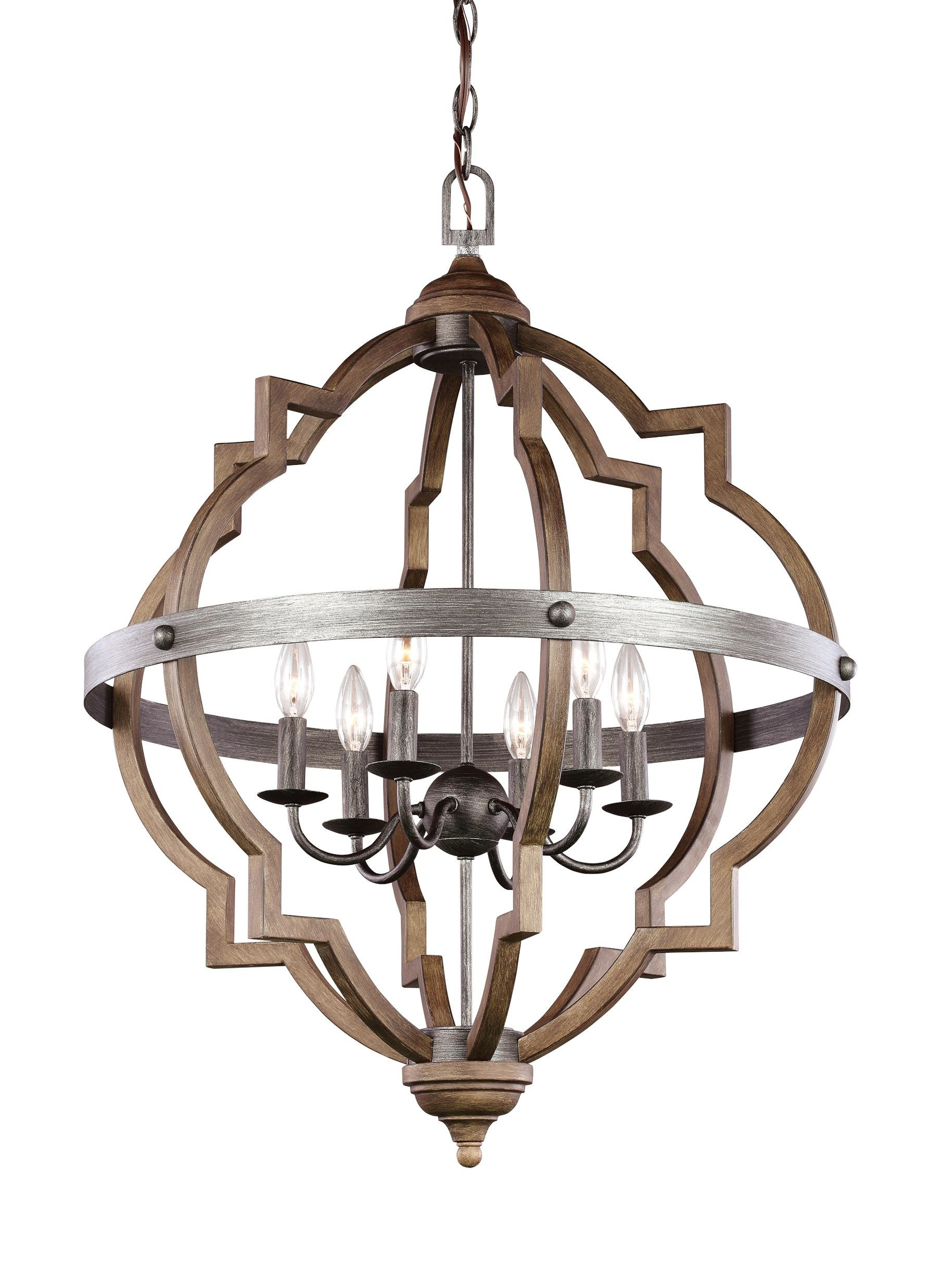 Lynn 6 Light Geometric Chandeliers With Newest Bennington 6 Light Candle Style Chandelier (View 10 of 25)