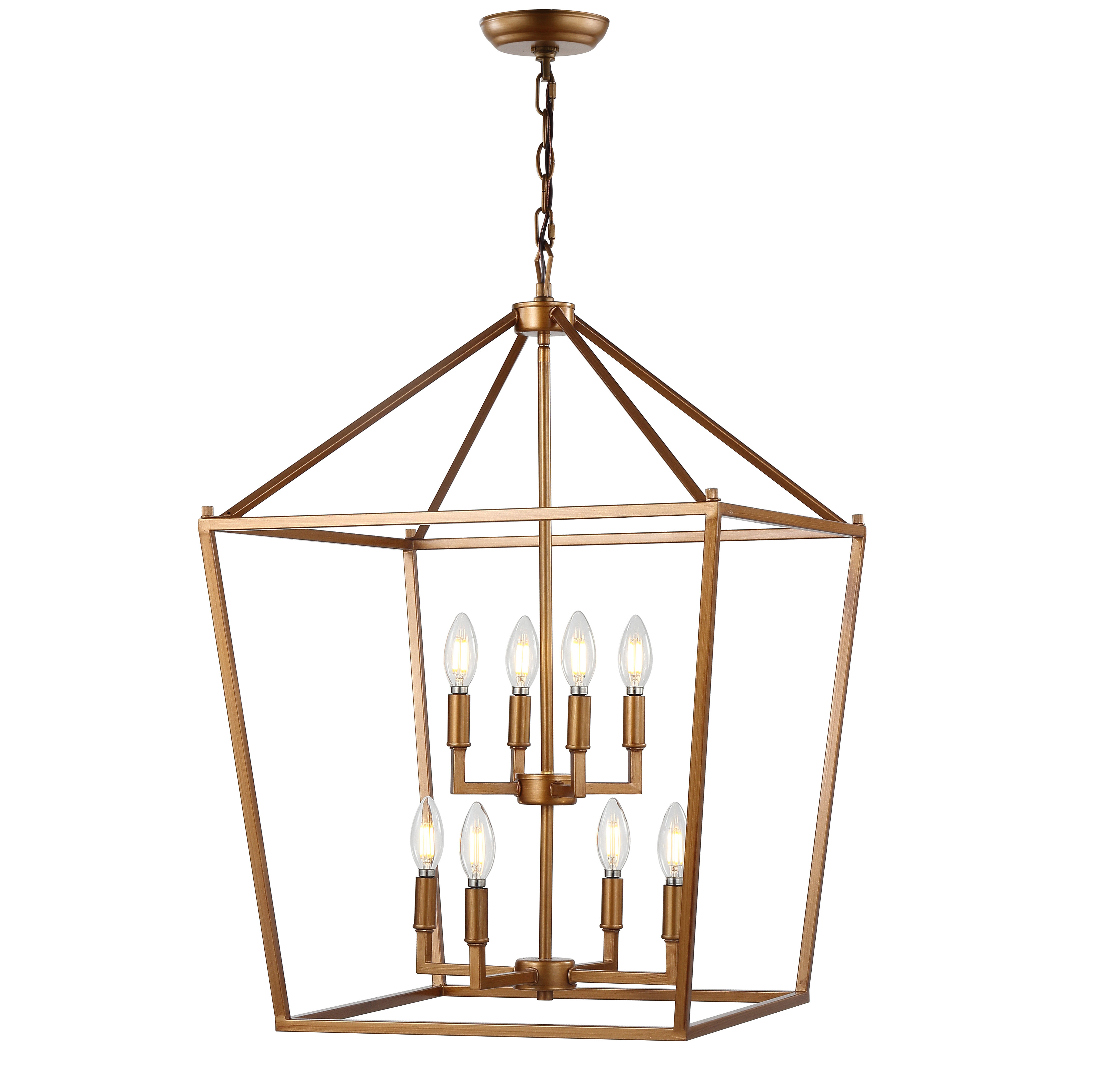 Maggiemae 8 Light Lantern Pendant With 2020 Odie 8 Light Lantern Square / Rectangle Pendants (View 8 of 25)