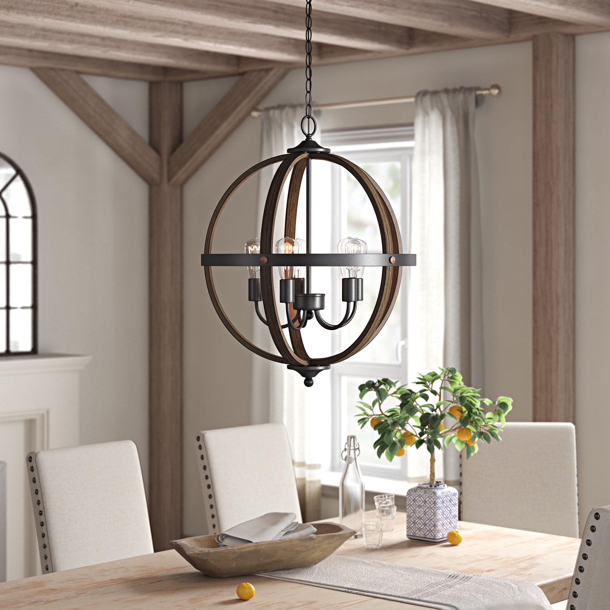 Makeba 5 Light Globe Chandelier Inside Preferred La Barge 3 Light Globe Chandeliers (View 6 of 25)