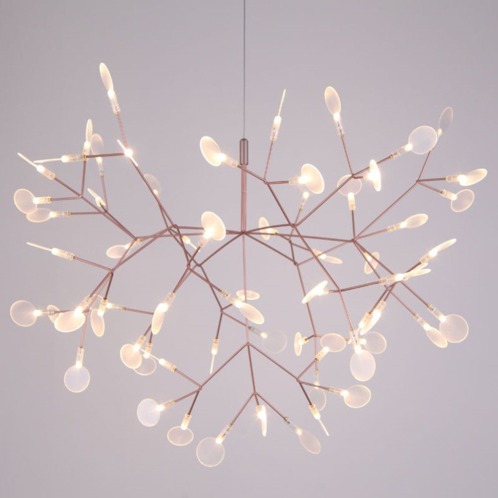 Modern Leaves Firefly Led Chandelier Plant Pendant Light Regarding Trendy Kenedy 9 Light Candle Style Chandeliers (View 11 of 25)