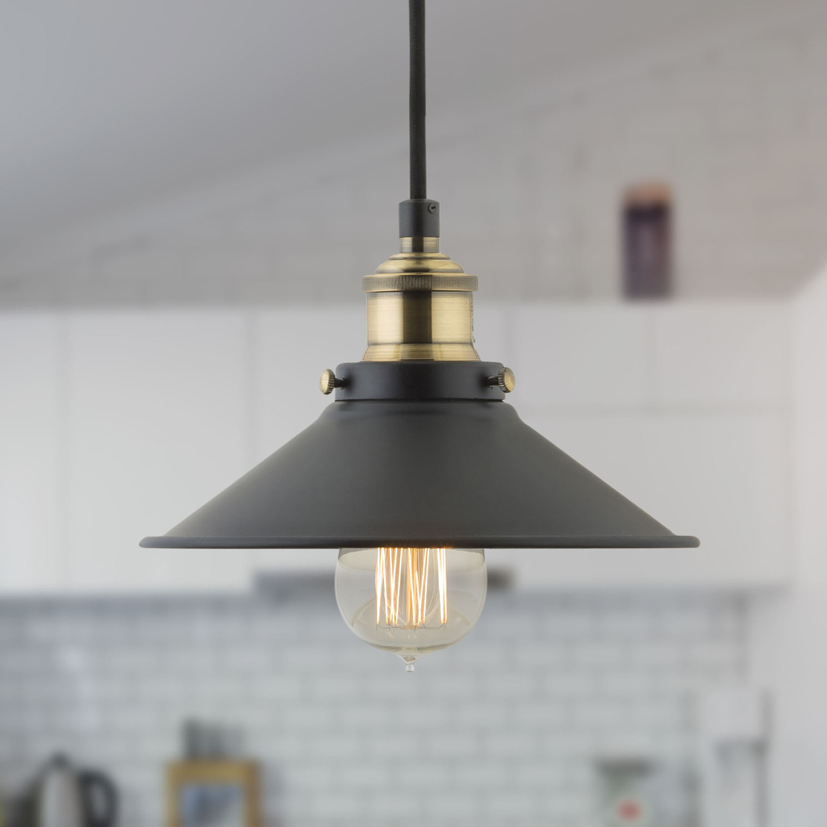 Montreal 1 Light Single Cone Pendant With Regard To Widely Used Cinchring 1 Light Cone Pendants (View 15 of 25)