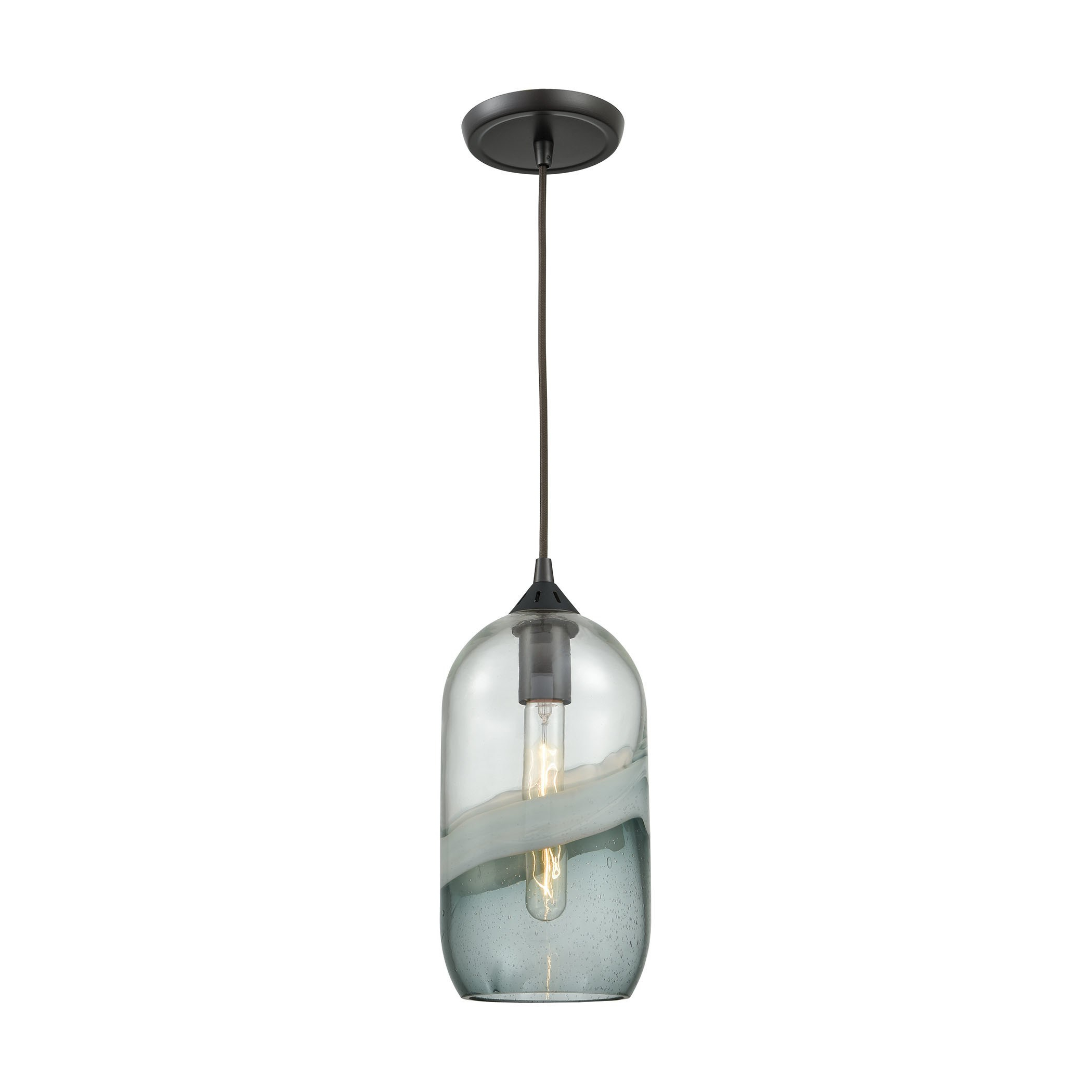 Moris 1 Light Cone Pendants Within 2019 Sutter Creek 1 Light Pendant, Oil Rubbed Bronze In  (View 8 of 25)