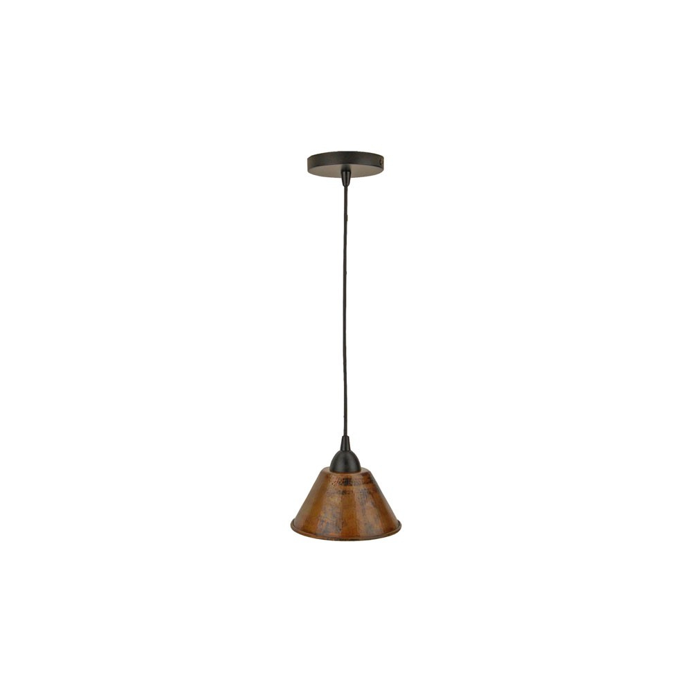 Moris 1 Light Cone Pendants Within Popular 7 Inch Hammered Copper Cone Pendant Light (View 14 of 25)