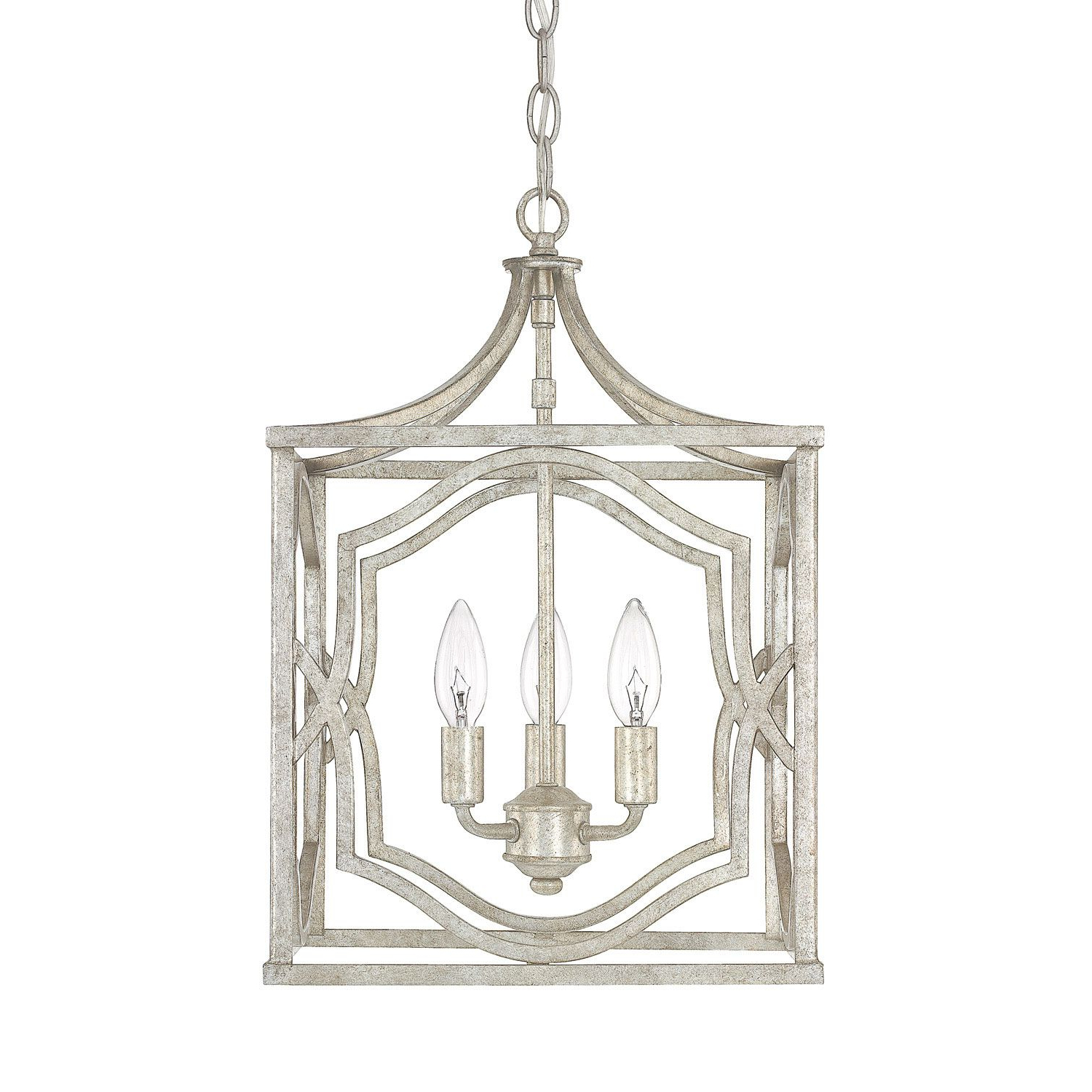 Most Current 251 First Linden Antique Silver Three Light Lantern Pendant For Freeburg 4 Light Lantern Square / Rectangle Pendants (View 12 of 25)