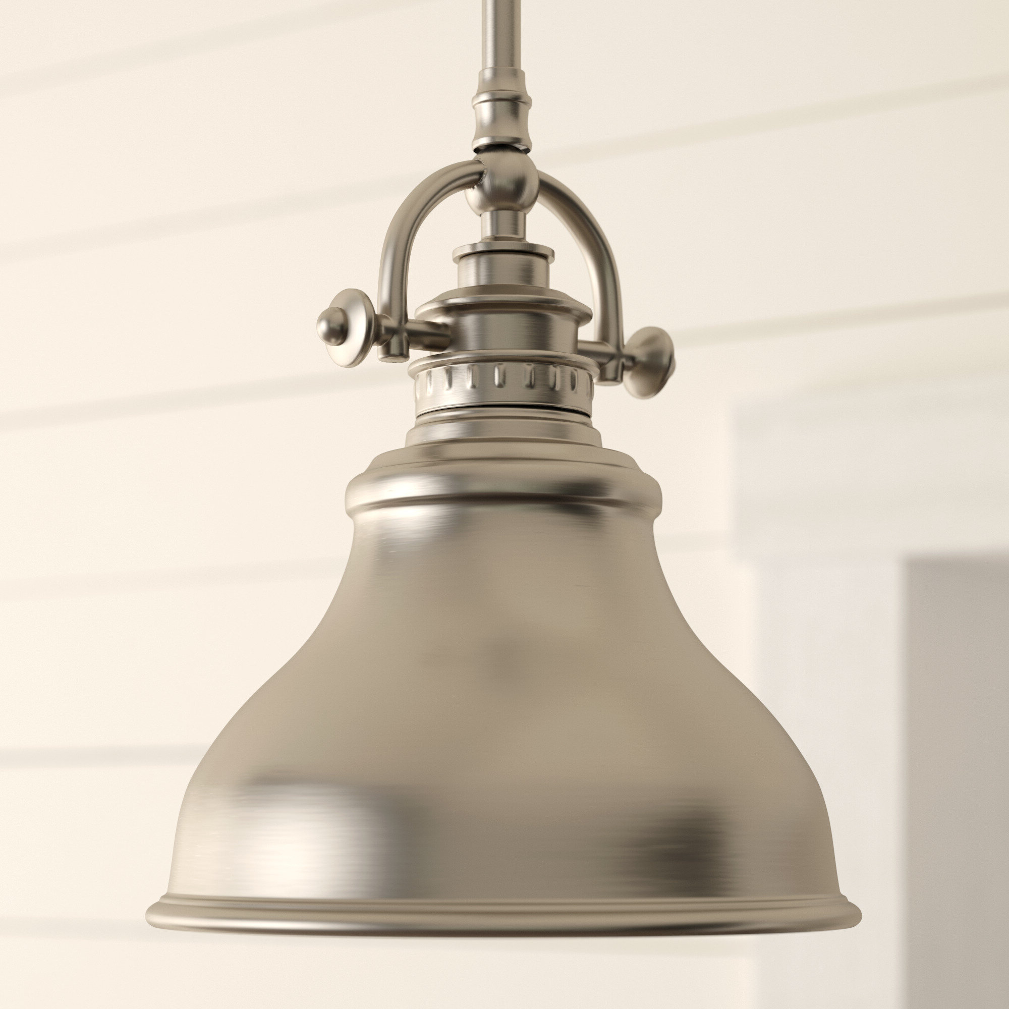 Most Current Beachcrest Home Mueller 1 Light Single Dome Pendant Intended For Hamilton 1 Light Single Dome Pendants (View 14 of 25)