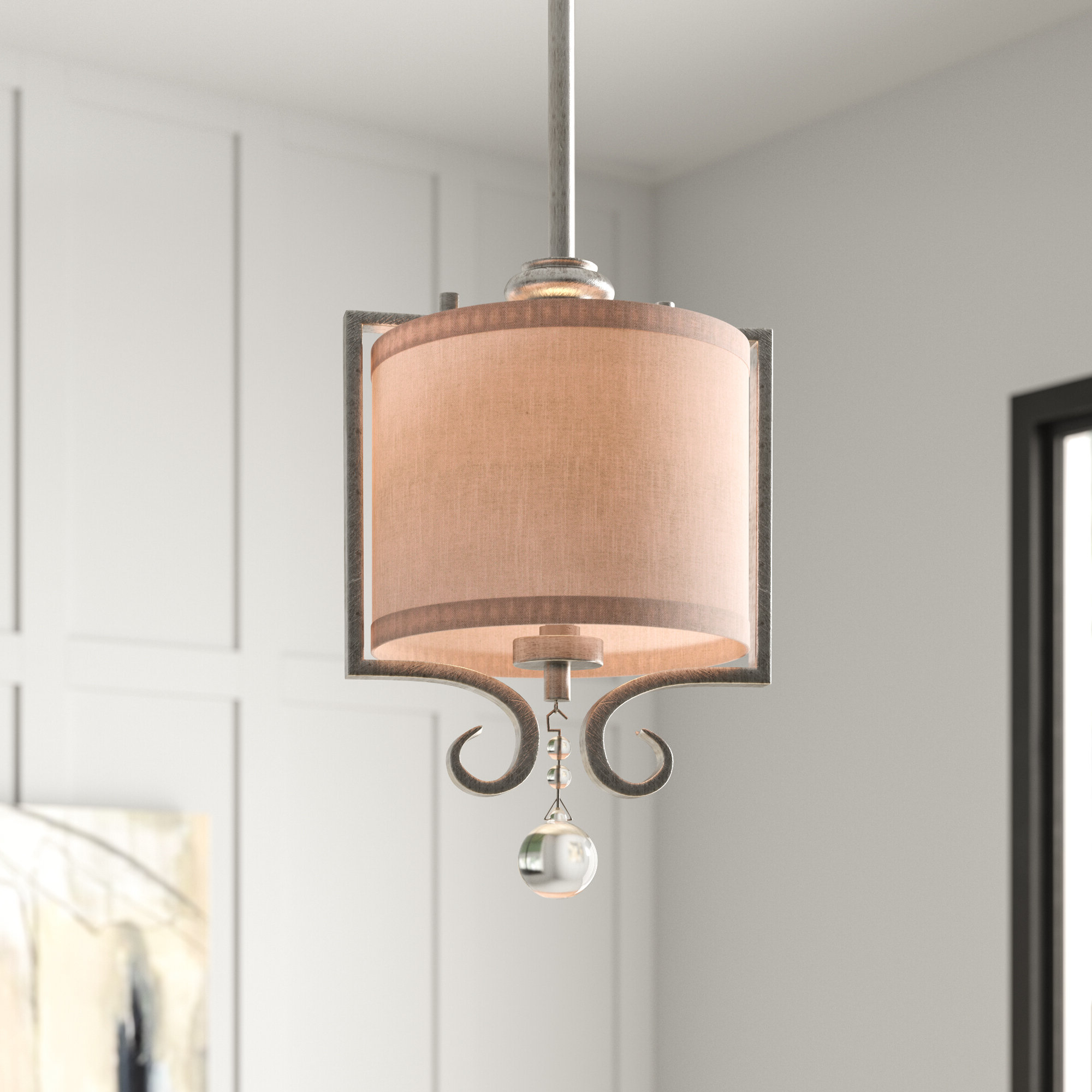 Most Current Beasley 1 Light Single Drum Pendant Intended For Tadwick 3 Light Single Drum Chandeliers (View 10 of 25)