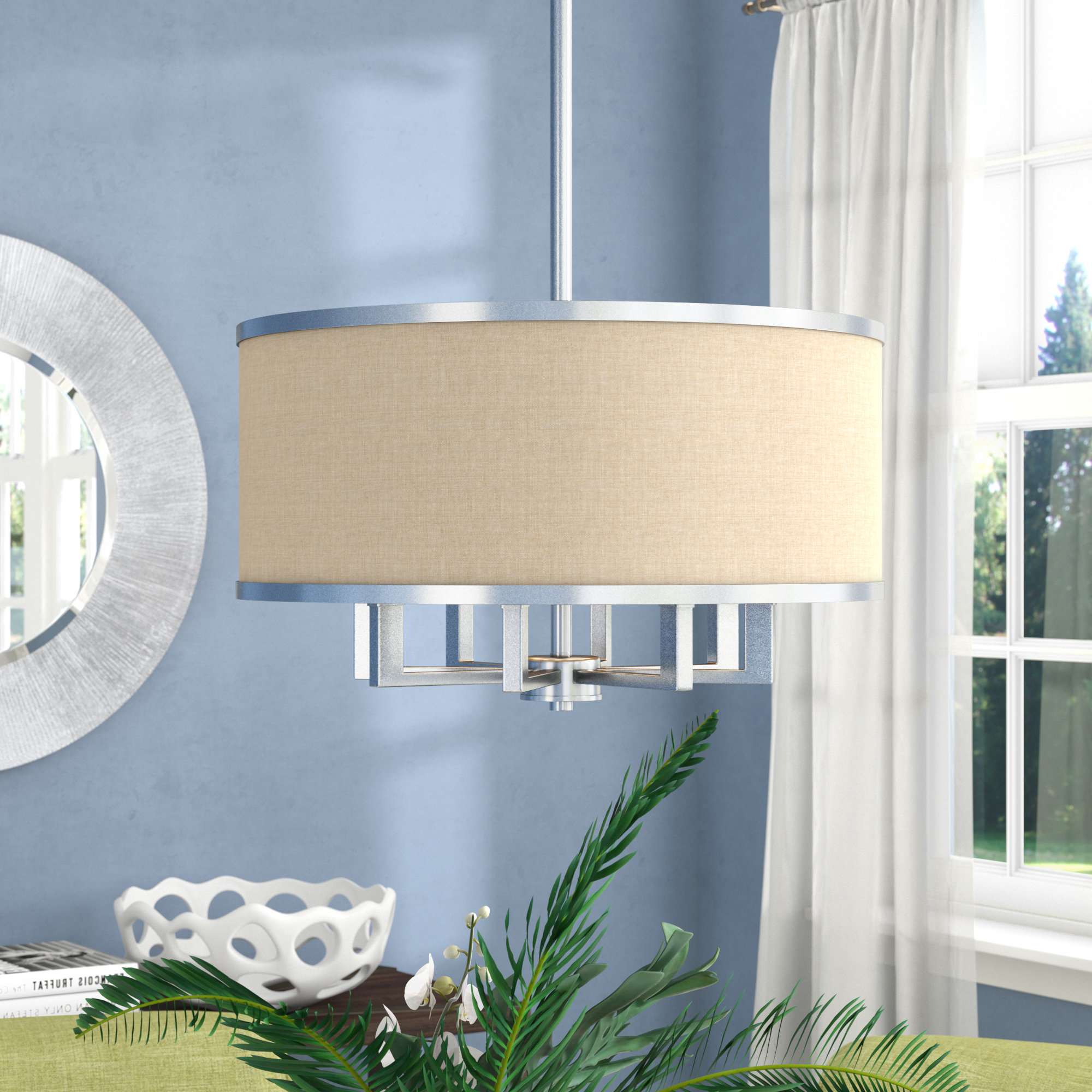 Most Current Breithaup 7 Light Drum Chandeliers Inside Latitude Run Breithaup 4 Light Drum Chandelier & Reviews (View 20 of 25)