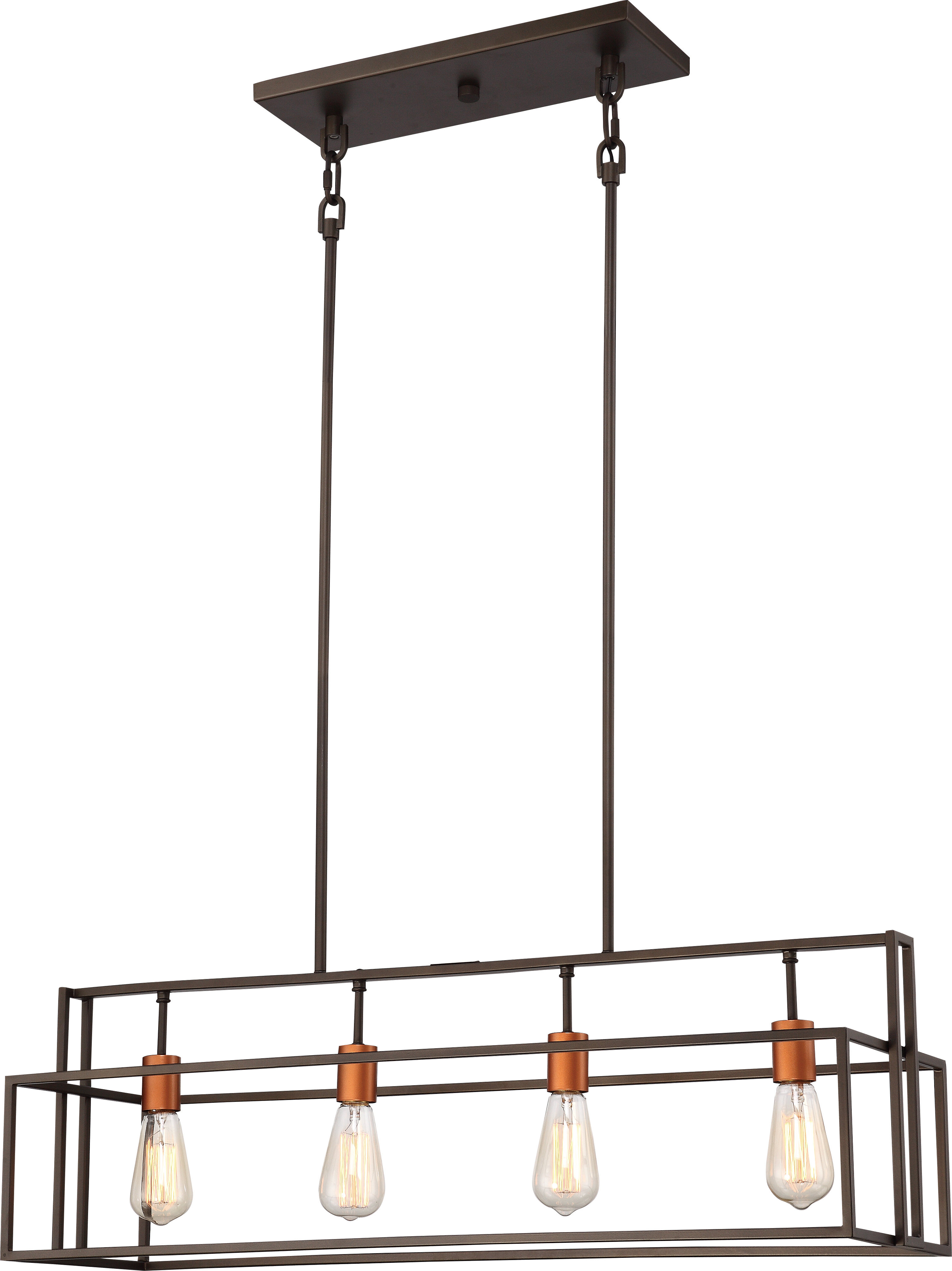 Most Current Cinchring 4 Light Kitchen Island Linear Pendants Within Jefferson 4 Light Kitchen Island Linear Pendant (View 17 of 25)