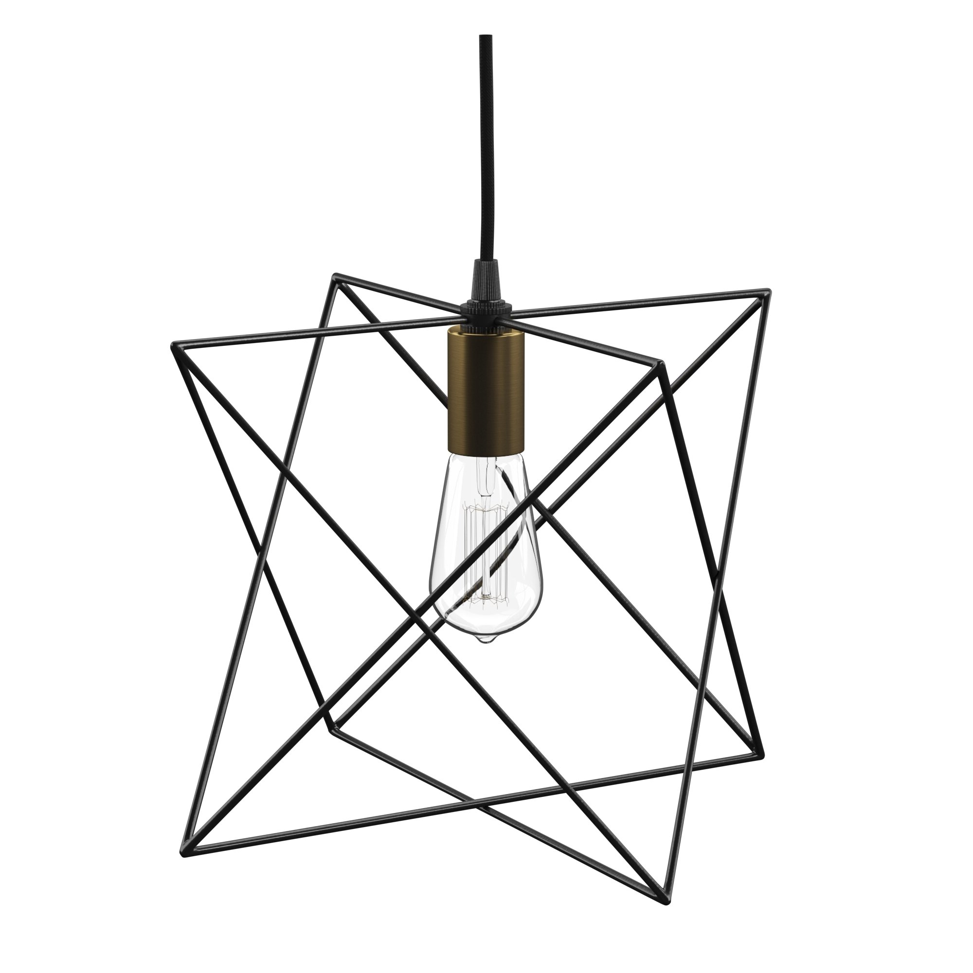 Most Current Hydetown 1 Light Single Geometric Pendants Regarding Mercury Row Quiros 1 Light Geometric Pendant (View 17 of 25)