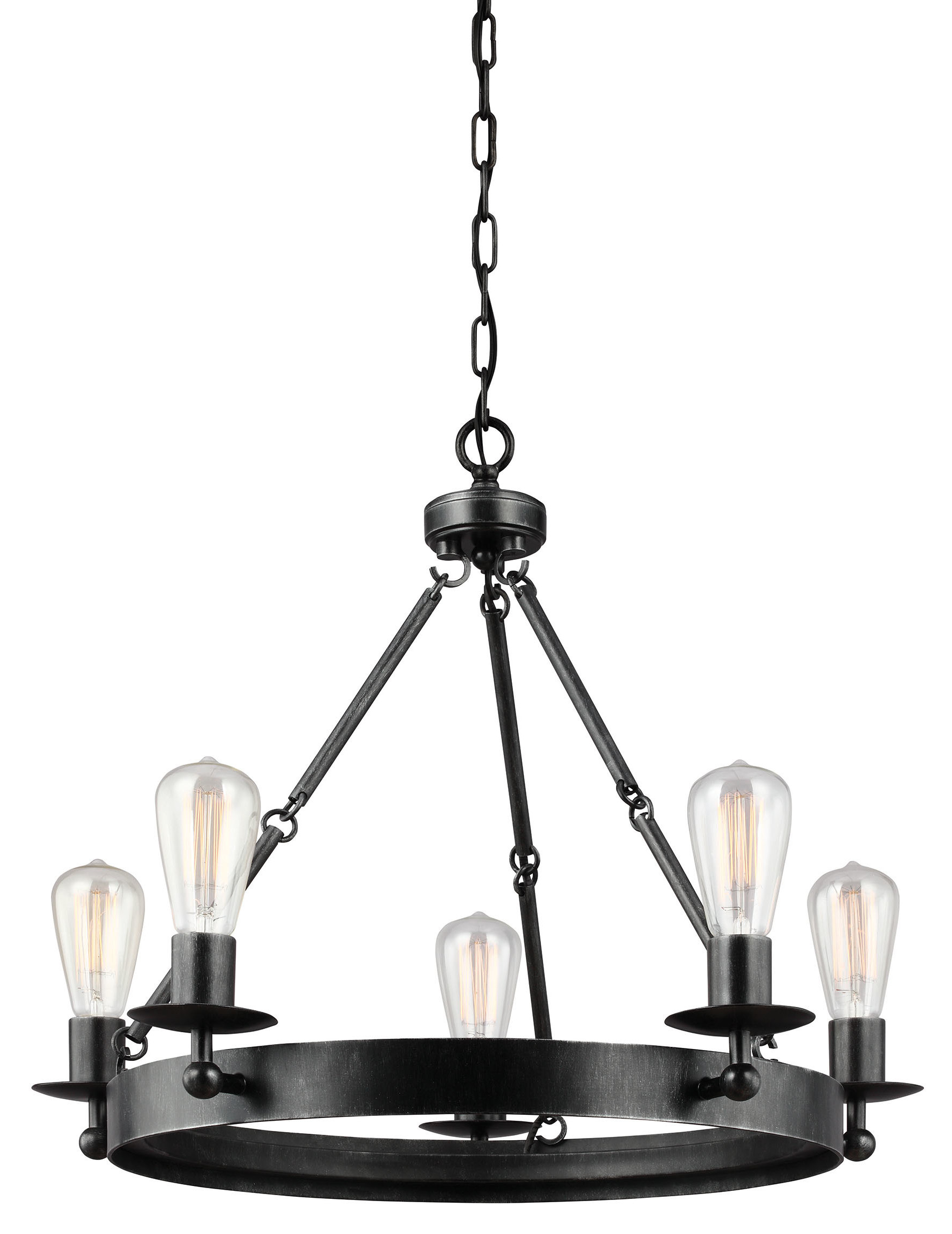 Most Current Janette 5 Light Wagon Wheel Chandeliers For Hines 5 Light Wagon Wheel Chandelier (View 13 of 25)