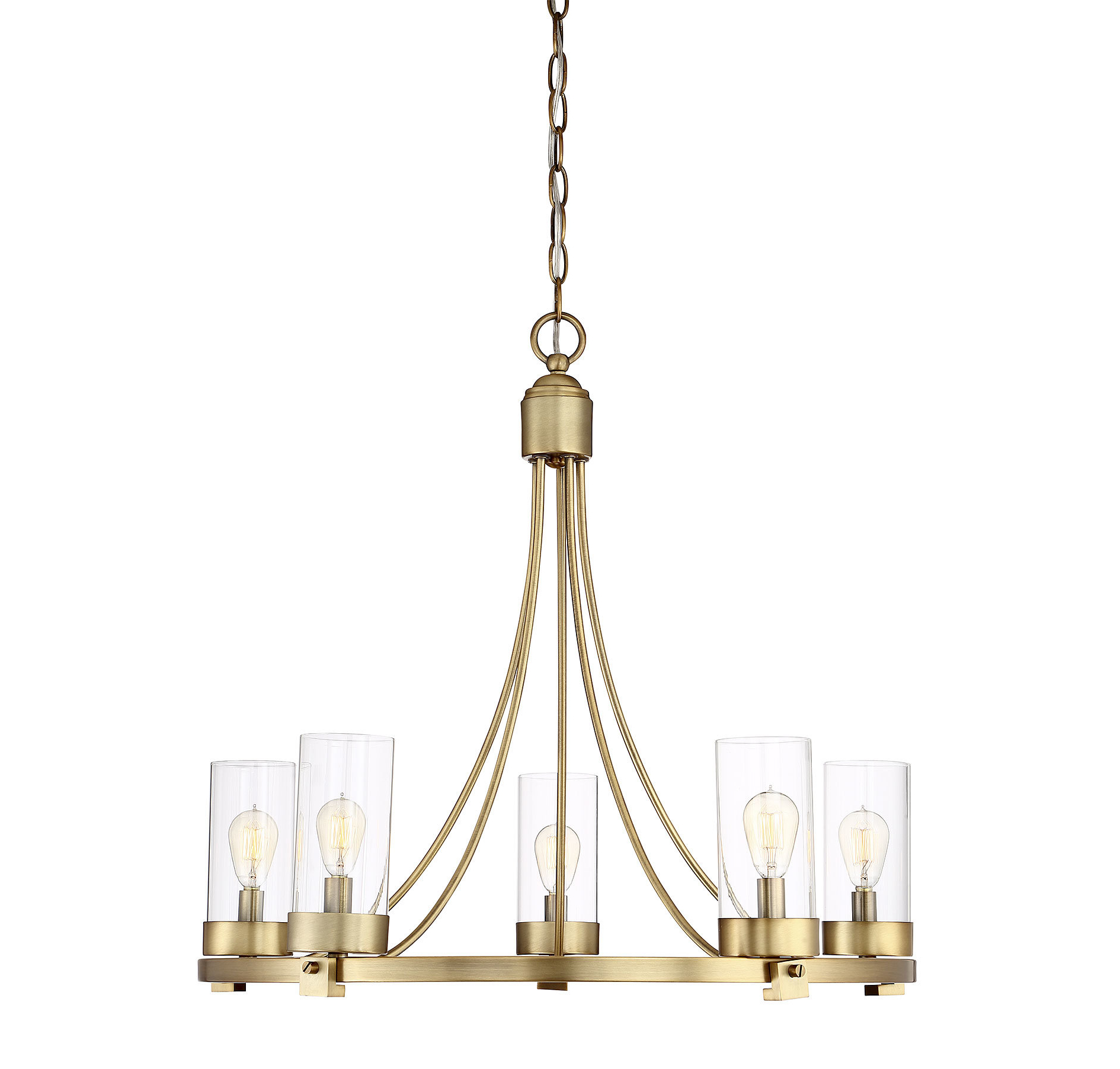 Most Current Kenna 5 Light Empire Chandeliers With Delshire 5 Light Wagon Wheel Chandelier (View 16 of 25)