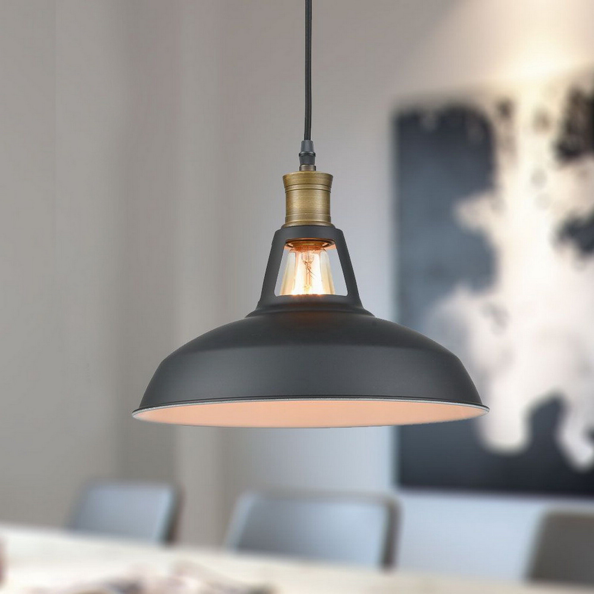 Most Current Ludovic Plug In 1 Light Dome Pendant Inside Cinchring 1 Light Cone Pendants (View 16 of 25)