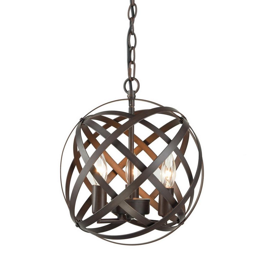 Most Current Mcinerney Cage 3 Light Globe Chandelier Inside Shipststour 3 Light Globe Chandeliers (View 13 of 25)