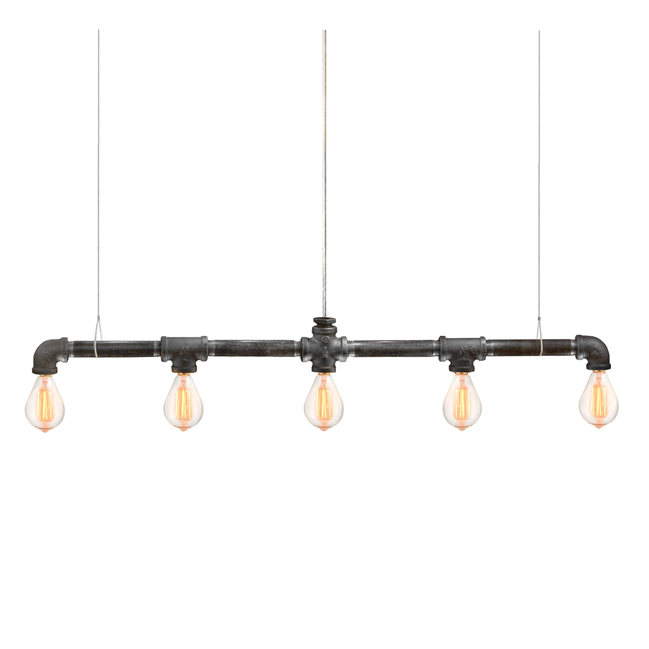 Most Current Neal 5 Light Kitchen Island Teardrop Pendants Throughout Kennesaw 5 Light Kitchen Island Bulb Pendant (View 19 of 25)