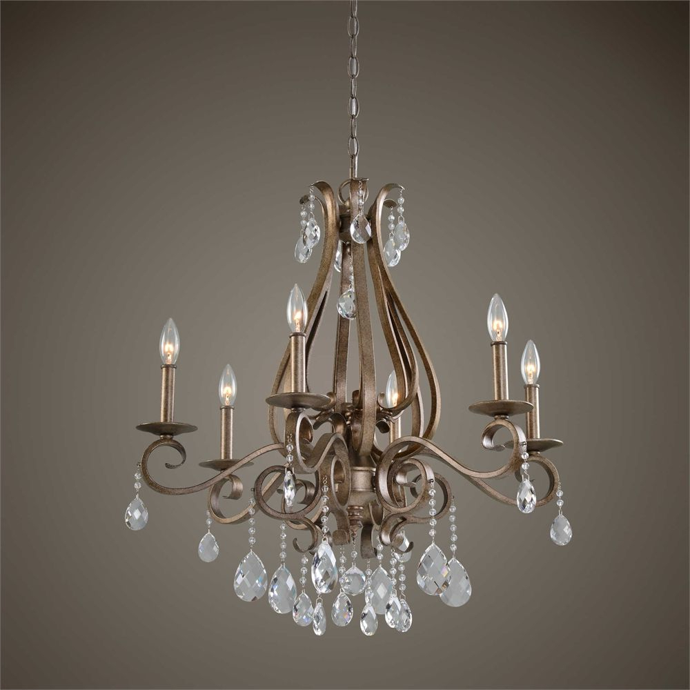 Most Current Sherri 6 Light Chandeliers Throughout Uttermost Siobhan 6 Light Crystal Chandelier (View 10 of 25)