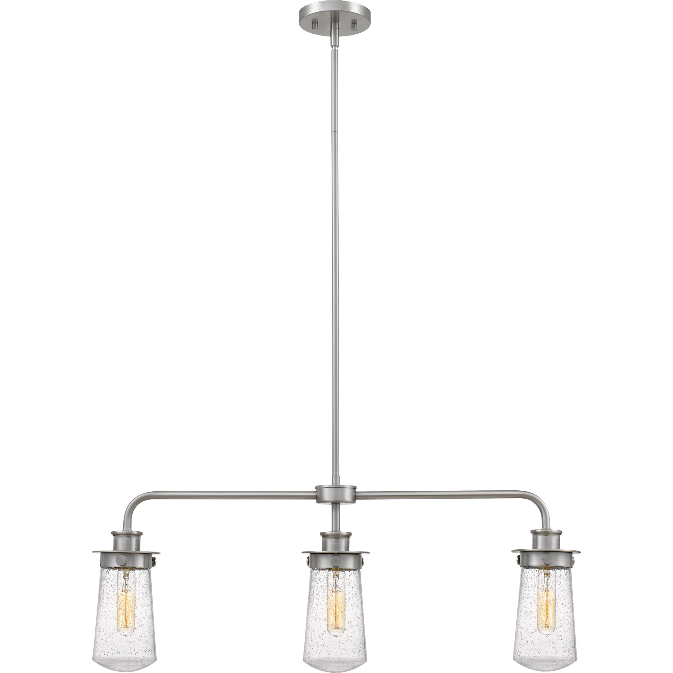 Most Current Simsbury 3 Light Kitchen Island Linear Pendant Regarding Cinchring 4 Light Kitchen Island Linear Pendants (View 15 of 25)