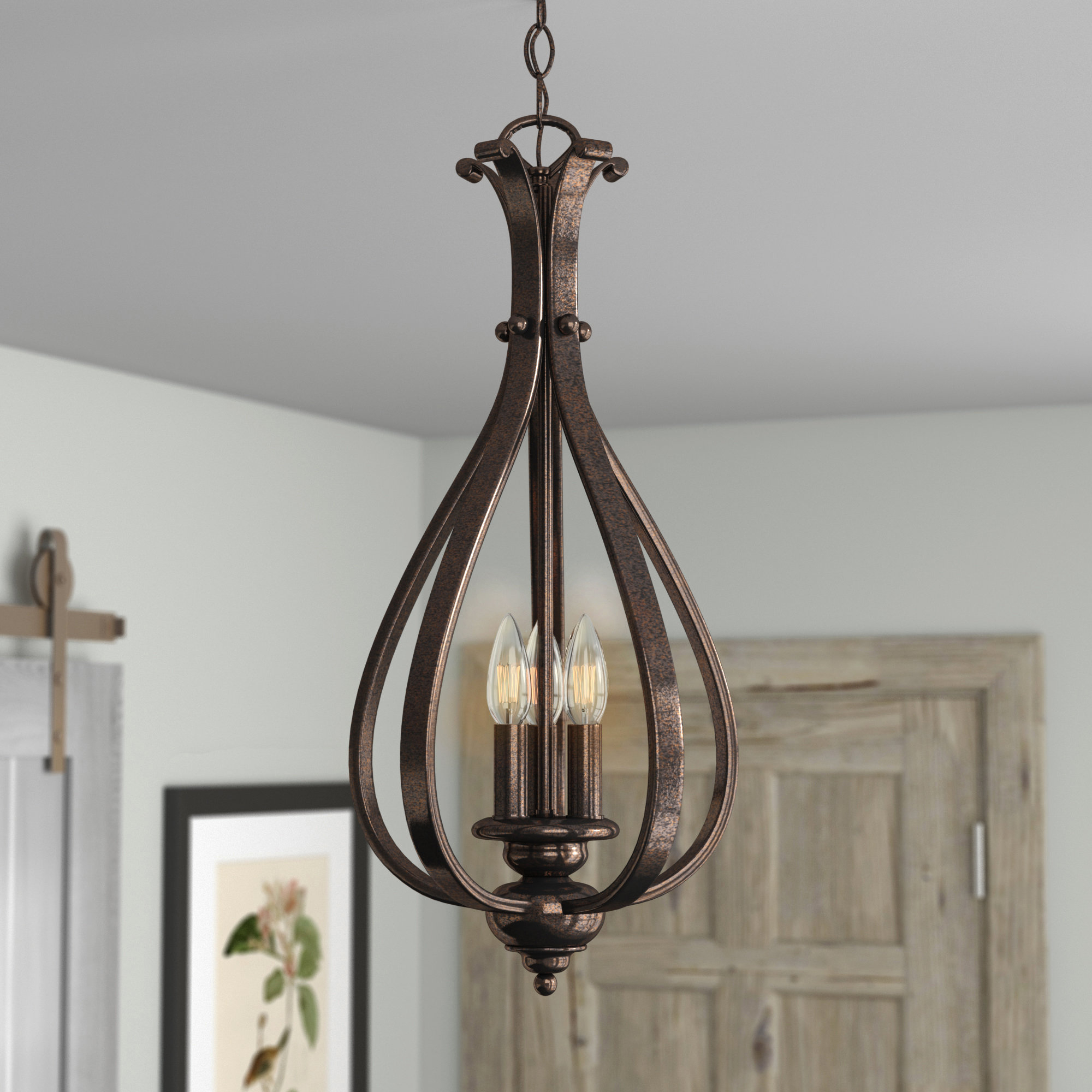Most Current Van Horne 3 Light Foyer Pendant Pertaining To Van Horne 3 Light Single Teardrop Pendants (View 7 of 25)