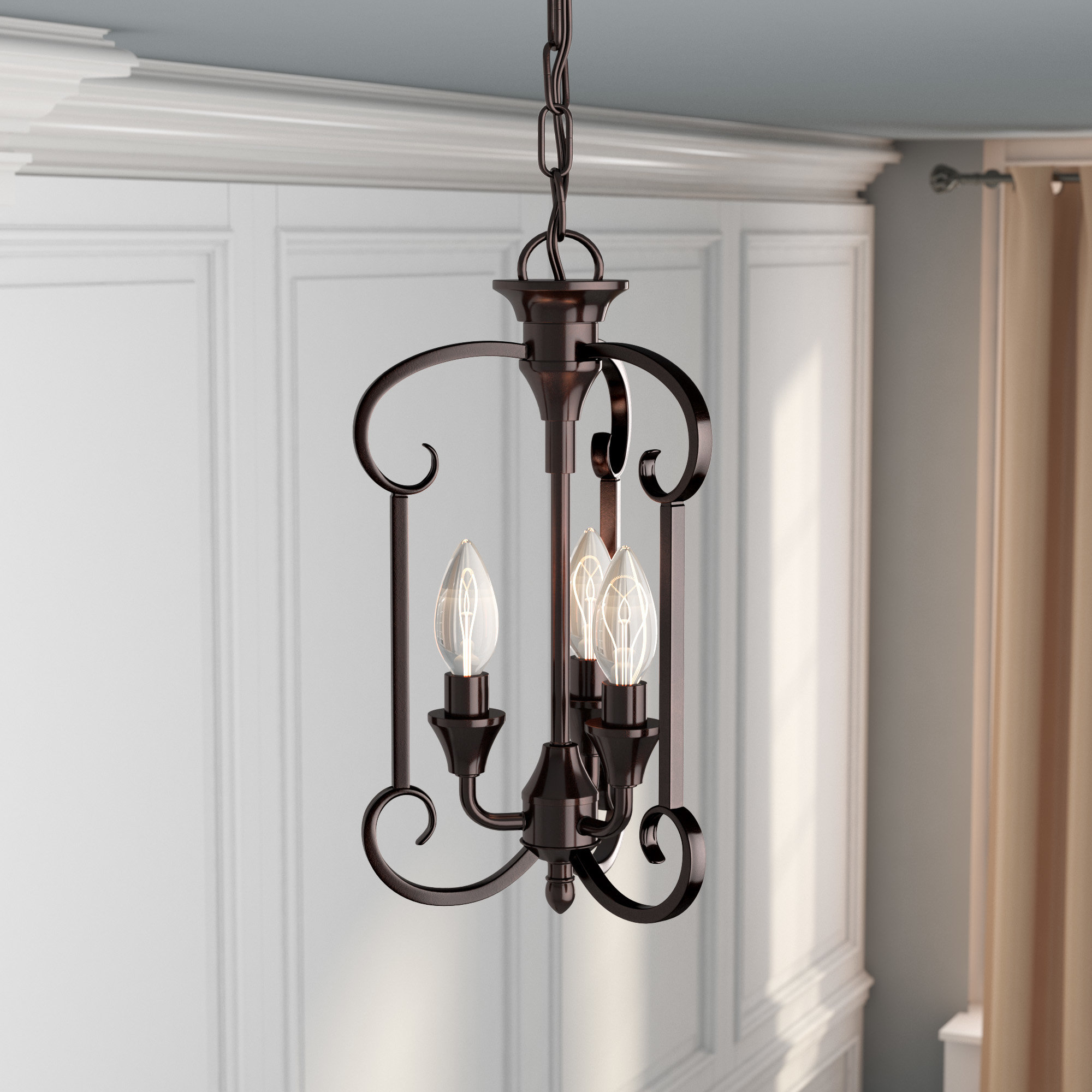 Most Current Van Horne 3 Light Single Teardrop Pendants Regarding Warner Robins 3 Light Lantern Pendant (View 13 of 25)