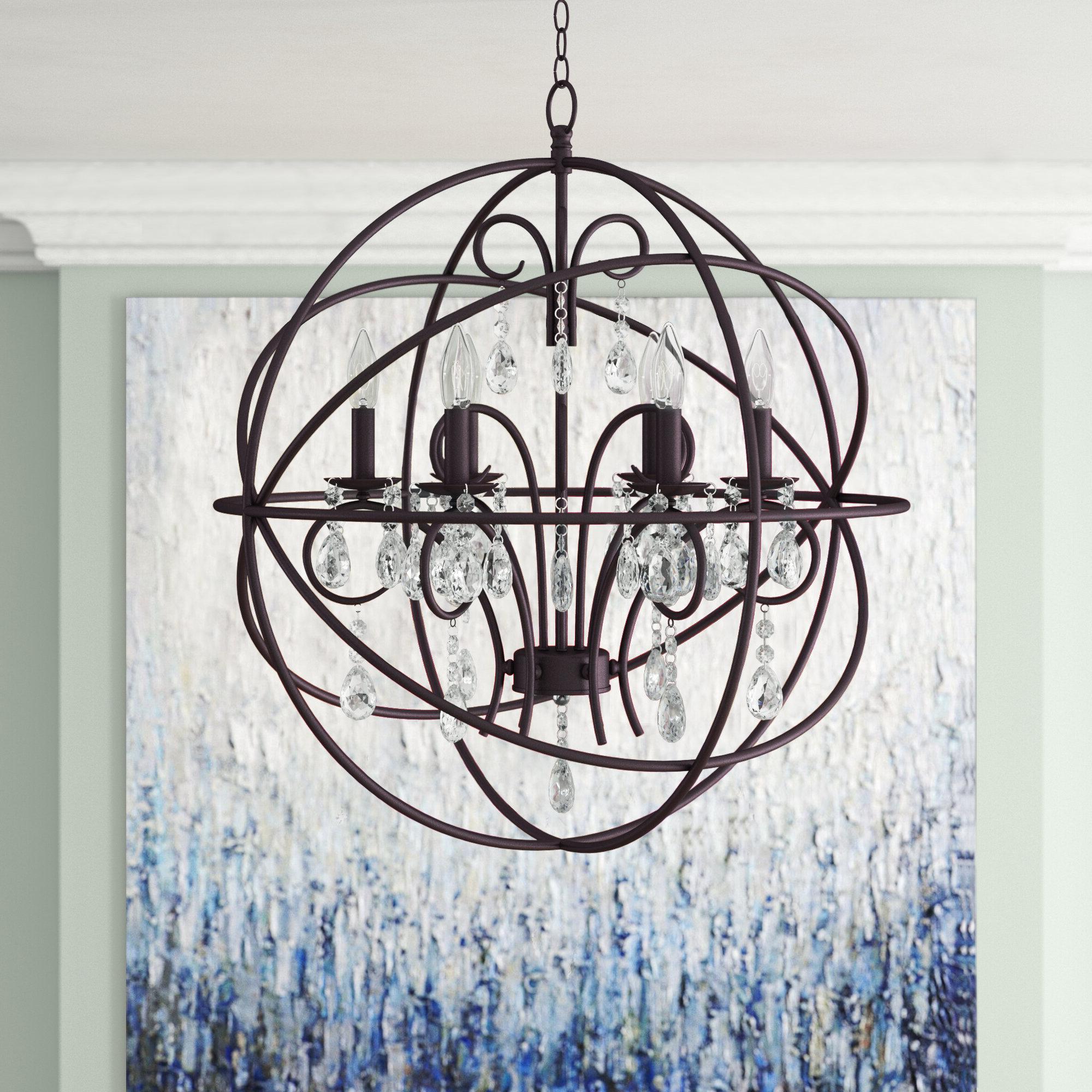 Most Current Willa Arlo Interiors Alden 6 Light Globe Chandelier In Eastbourne 6 Light Unique / Statement Chandeliers (View 12 of 25)