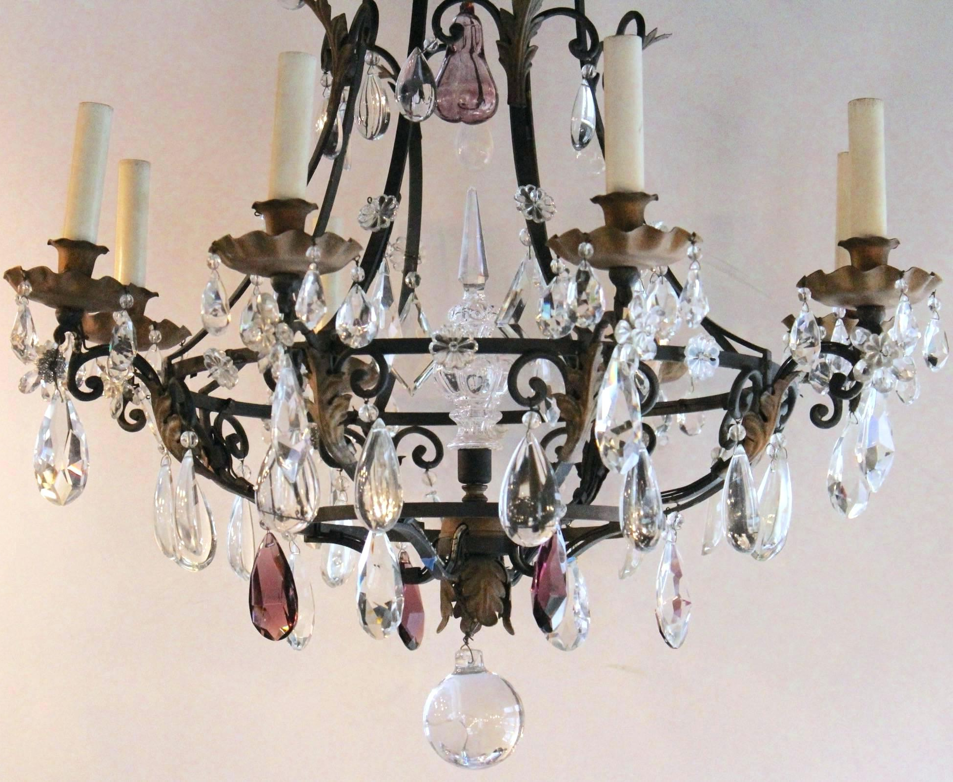 Most Popular Albano 4 Light Crystal Chandeliers Intended For Iron And Crystal Chandelier – Tommyboger (View 13 of 25)