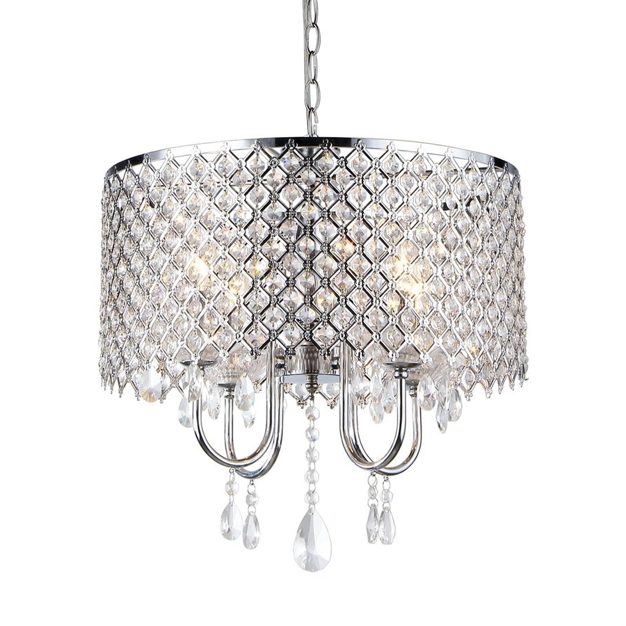 Most Popular Aldgate 4 Light Crystal Chandeliers In Lowes $ (View 16 of 25)