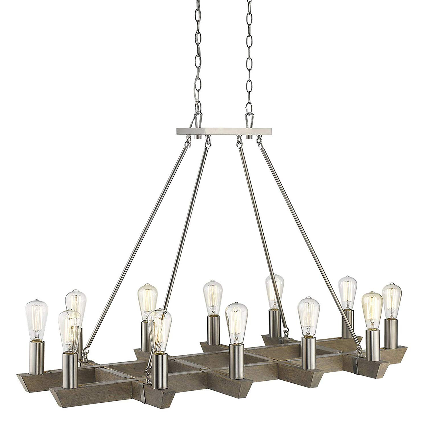 Most Popular Amazon: Acclaim Lighting In11061Sn Finnick 8 Light 48 For Finnick 4 Light Foyer Pendants (View 24 of 25)