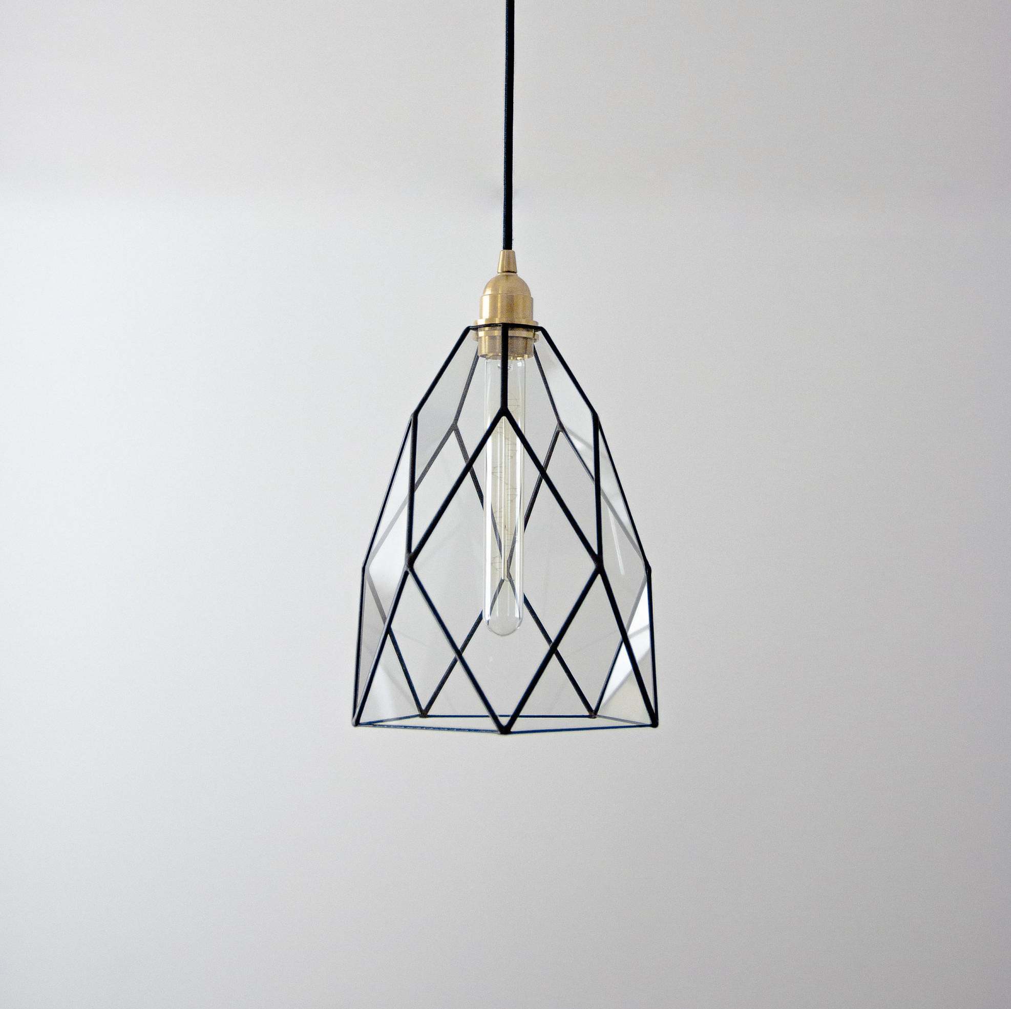 Most Popular Cafe Classic Geometric Glass Chandelier / Warm Vintage Bulb / Geometric  Pendant Light / Industrial Style Hanging Lamp / Kitchen Lightning Throughout Rossi Industrial Vintage 1 Light Geometric Pendants (View 8 of 25)
