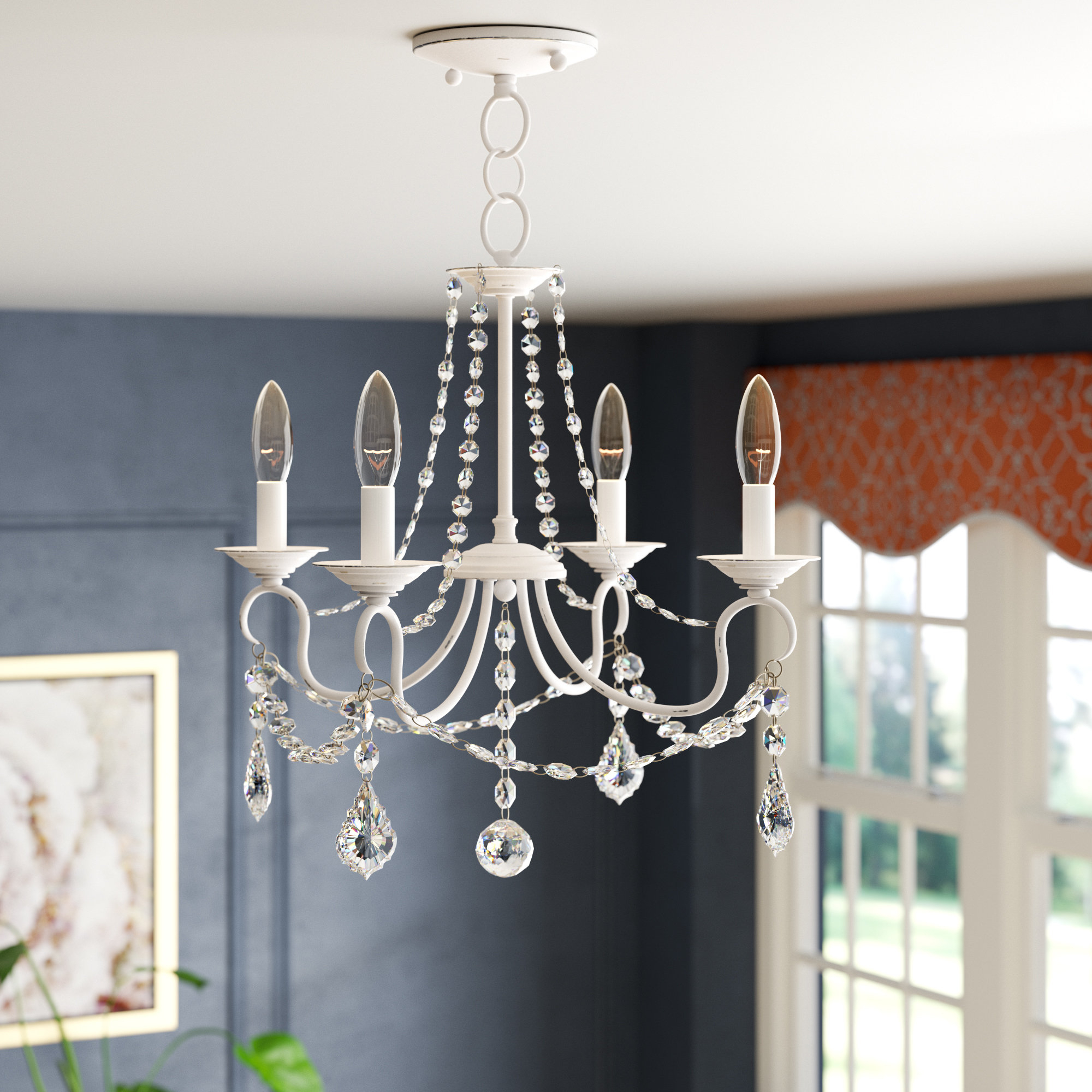 Most Popular Devana 4 Light Candle Style Chandelier Inside Aldora 4 Light Candle Style Chandeliers (View 6 of 25)