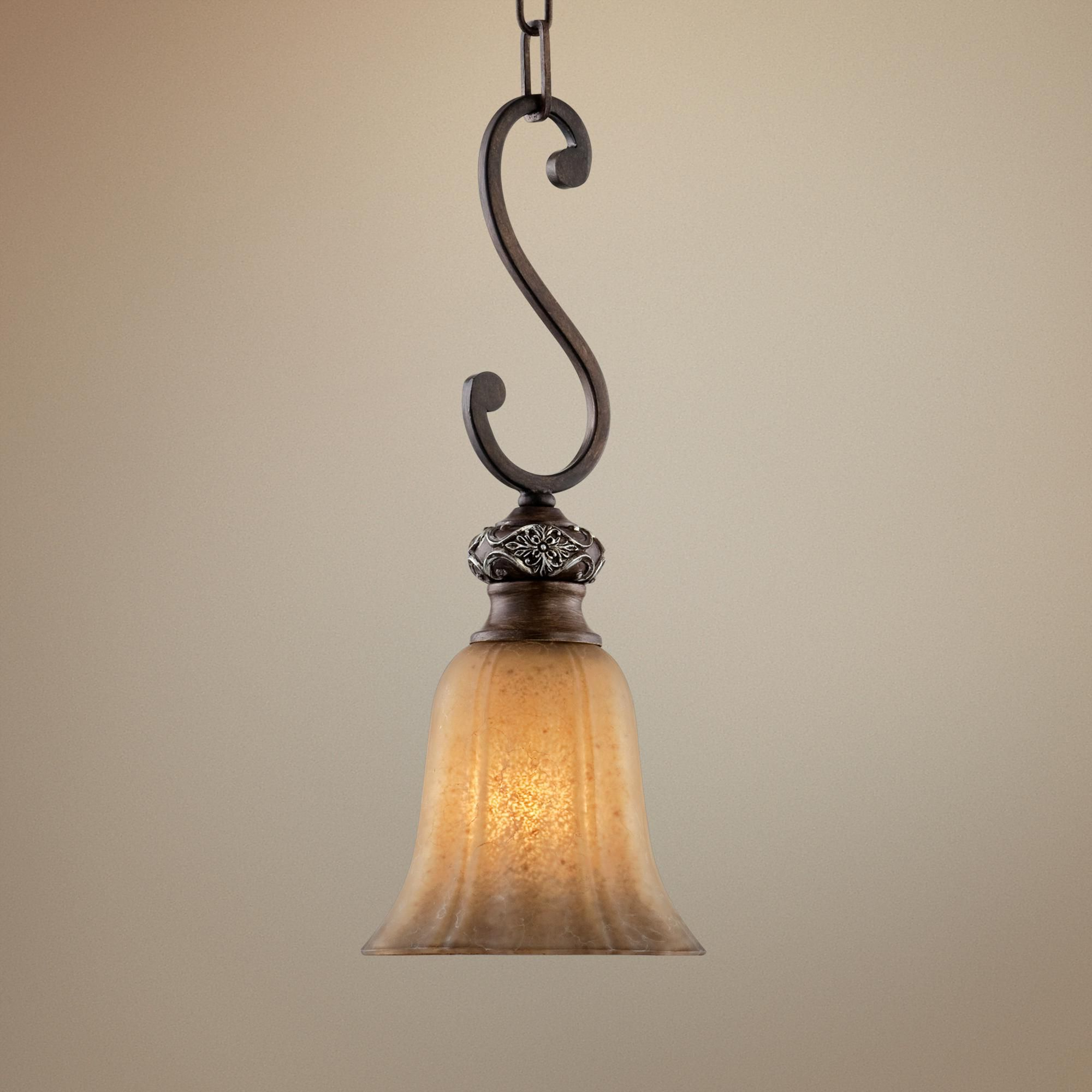 Most Popular Grullon Scroll 1 Light Single Bell Pendants Pertaining To Kathy Ireland Sterling Estate Mini Pendant Light – #r (View 23 of 25)
