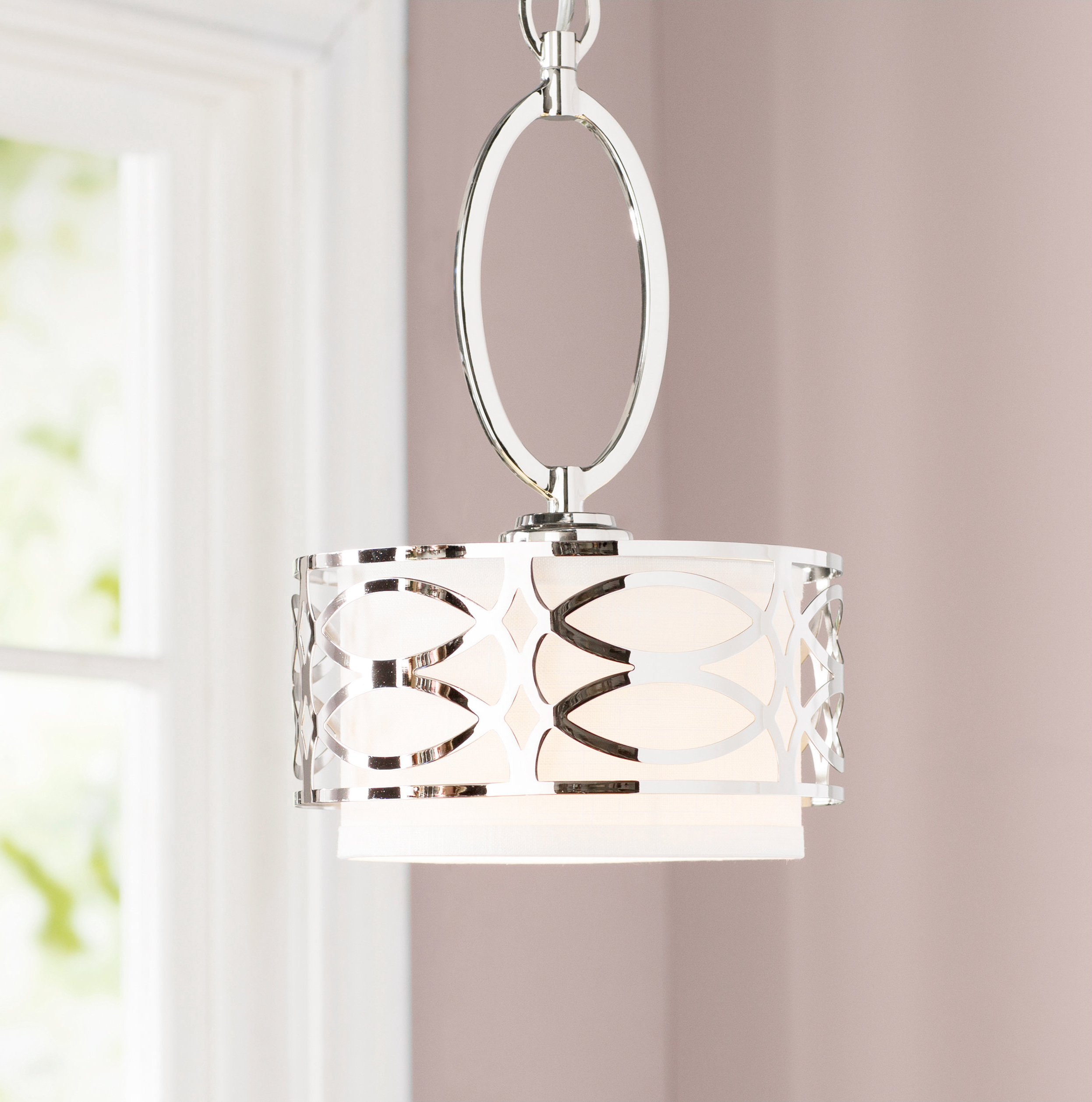 Most Popular Hermione 1 Light Single Drum Pendants In Helina 1 Light Pendant (View 11 of 25)
