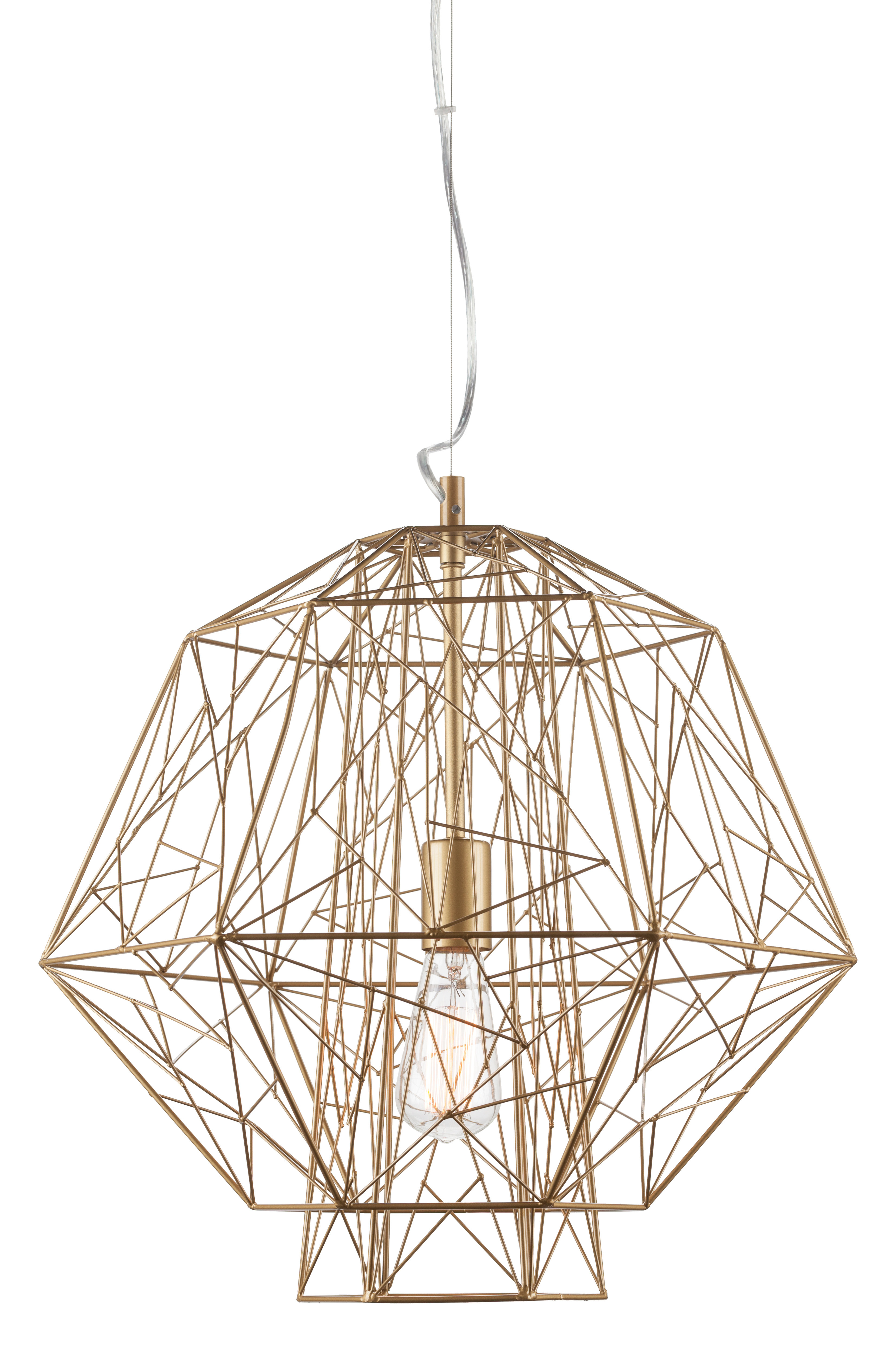 Featured Photo of Hydetown 1 Light Single Geometric Pendants