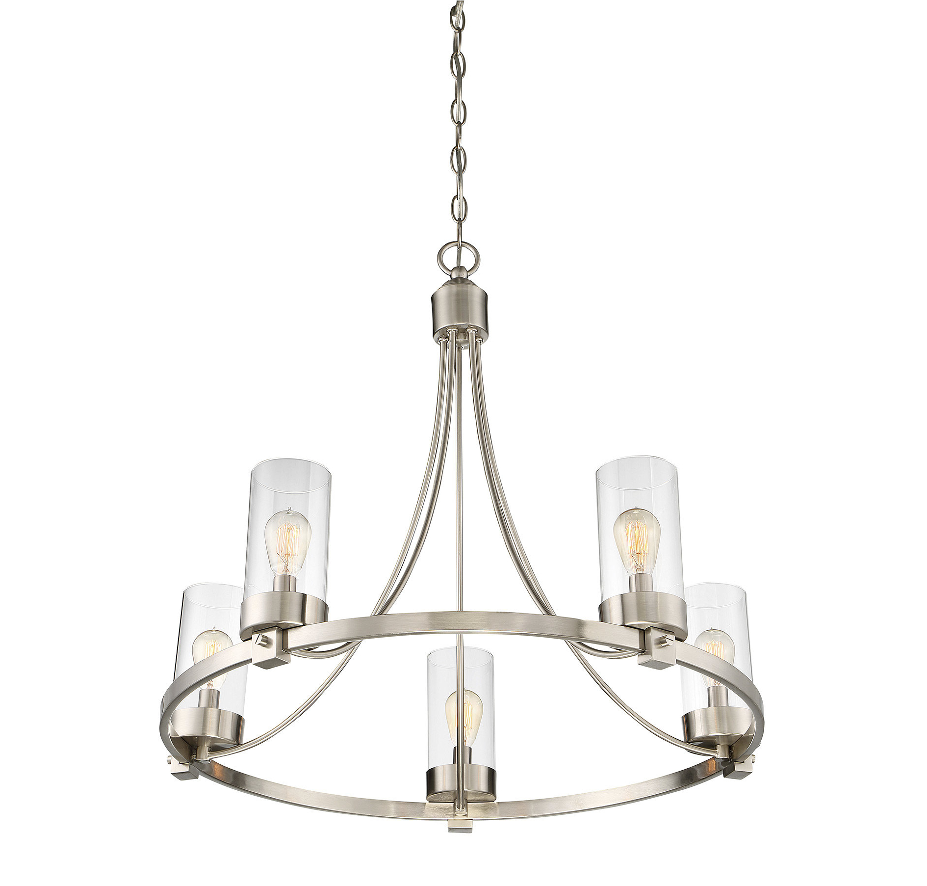 Most Popular Janette 5 Light Wagon Wheel Chandelier Regarding Janette 5 Light Wagon Wheel Chandeliers (View 7 of 25)