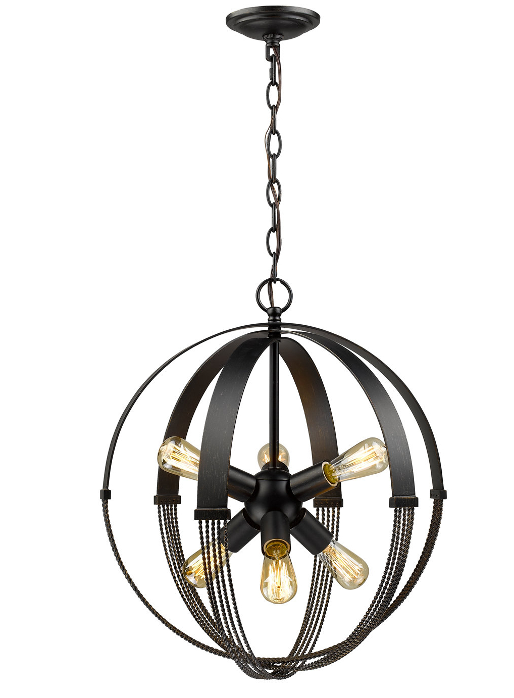 Most Popular Joon 6 Light Globe Chandeliers With Branscome 6 Light Chandelier (View 7 of 25)