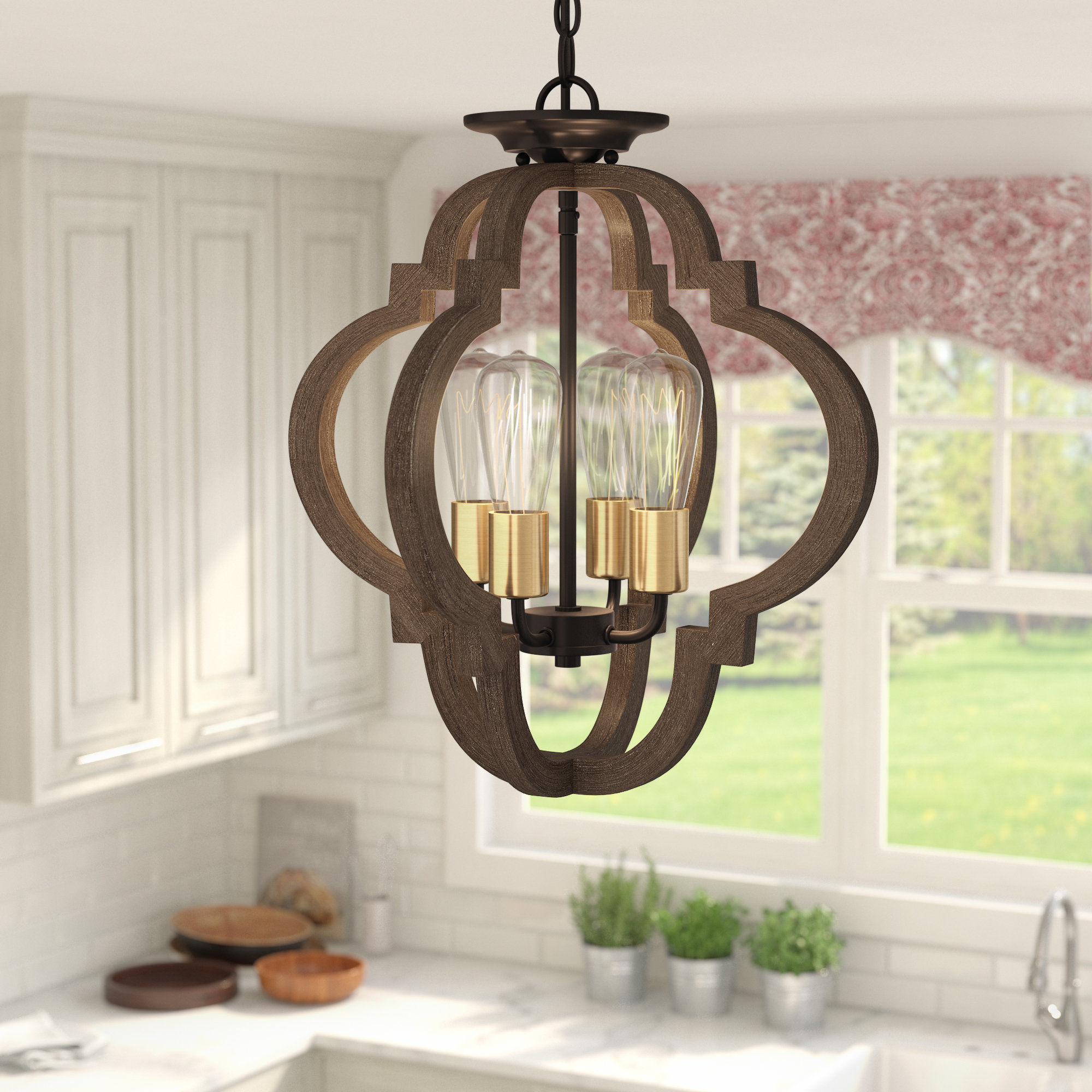 Most Popular Kaycee 4 Light Geometric Chandelier Intended For Lynn 6 Light Geometric Chandeliers (View 7 of 25)