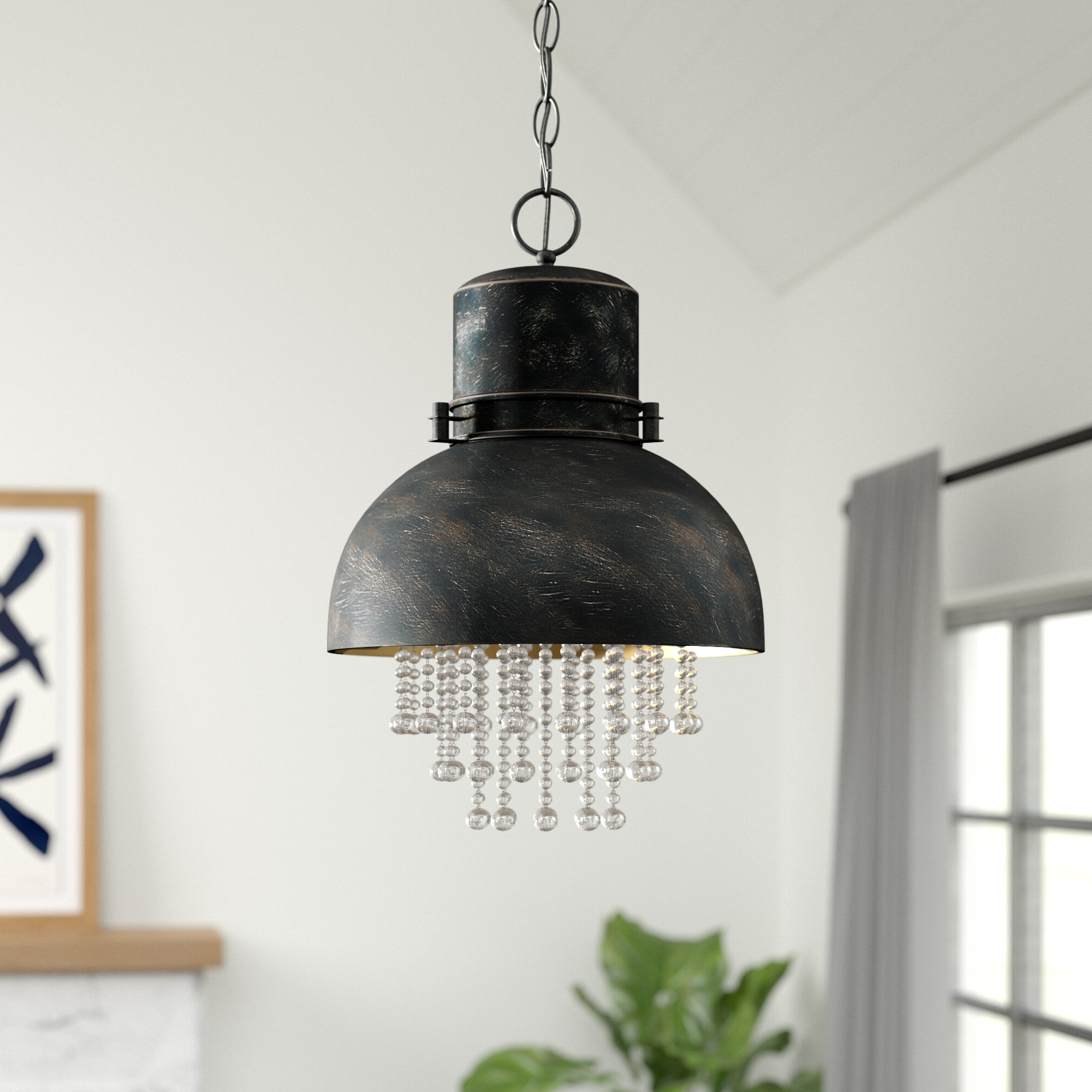 Most Popular Kraker 1 Light Single Cylinder Pendants Intended For Silver Pendant Lighting (View 13 of 25)
