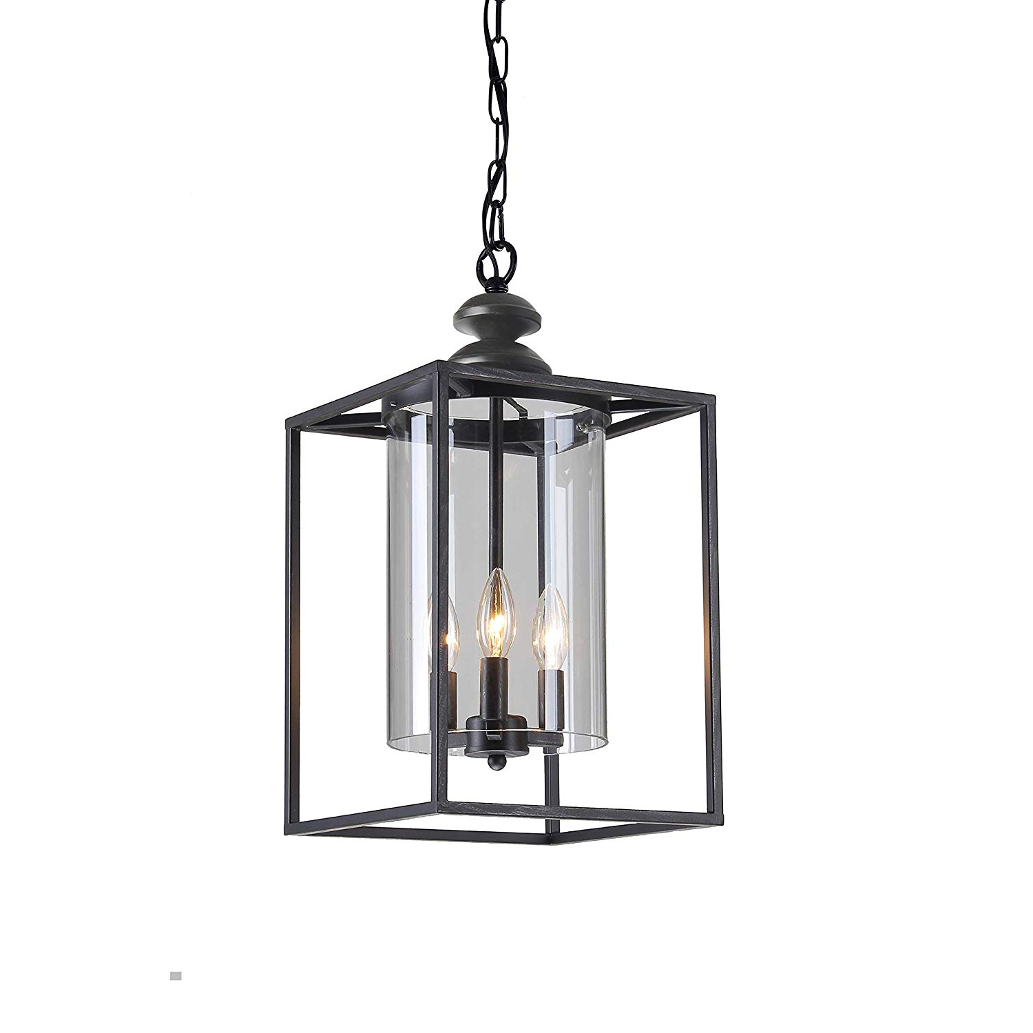 Most Popular La Barge 3 Light Globe Chandeliers Within Jojospring La Pedriza Antique Black 3 Light Glass And Metal Chandelier (View 13 of 25)