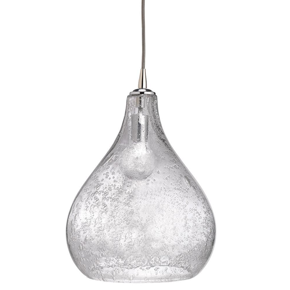 Most Popular Large Seeded Glass Teardrop Pendant – Clear (View 11 of 25)